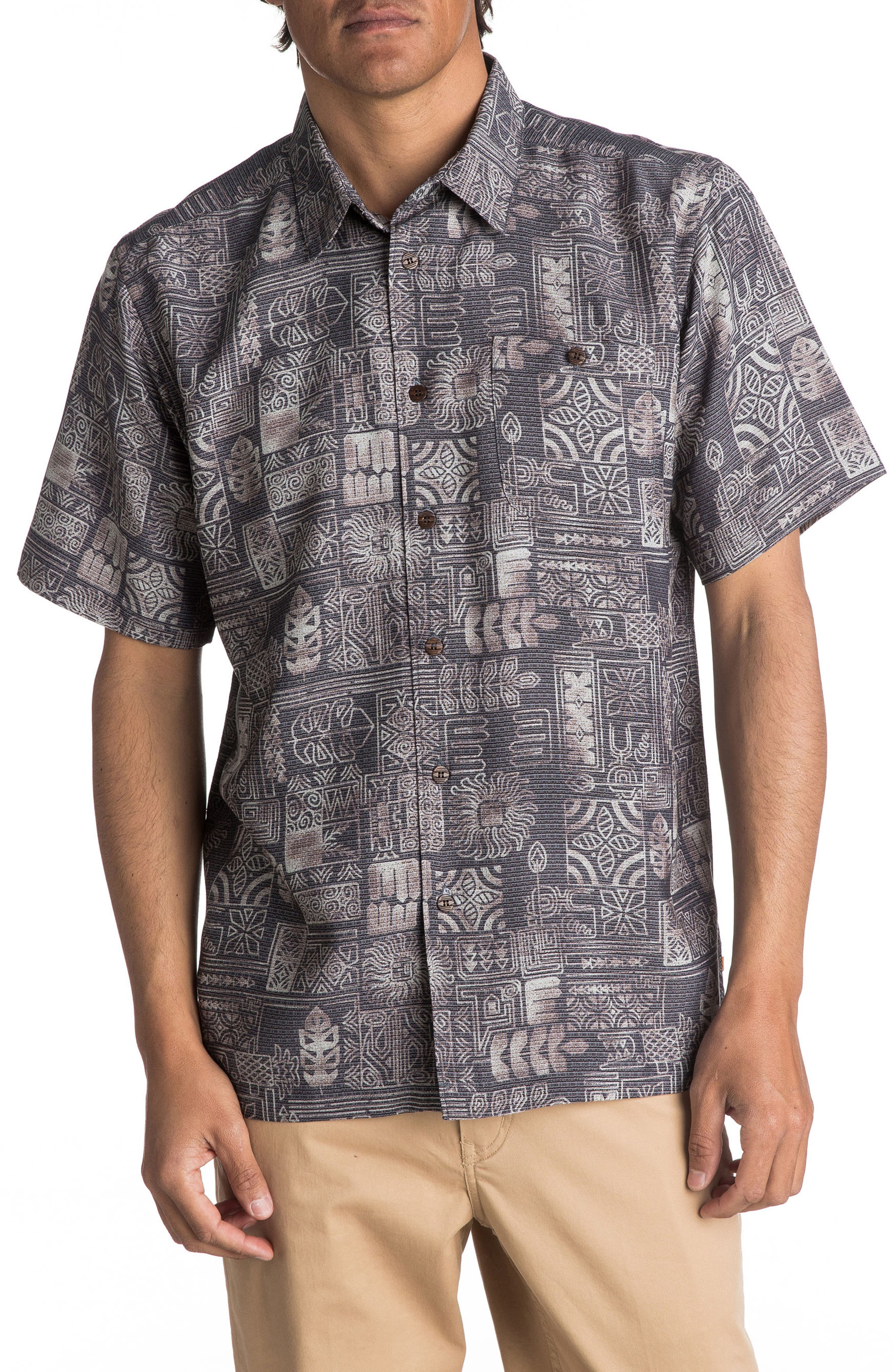 Alternate Image 1 Selected - Quiksilver Waterman Collection Tikitaka Camp Shirt