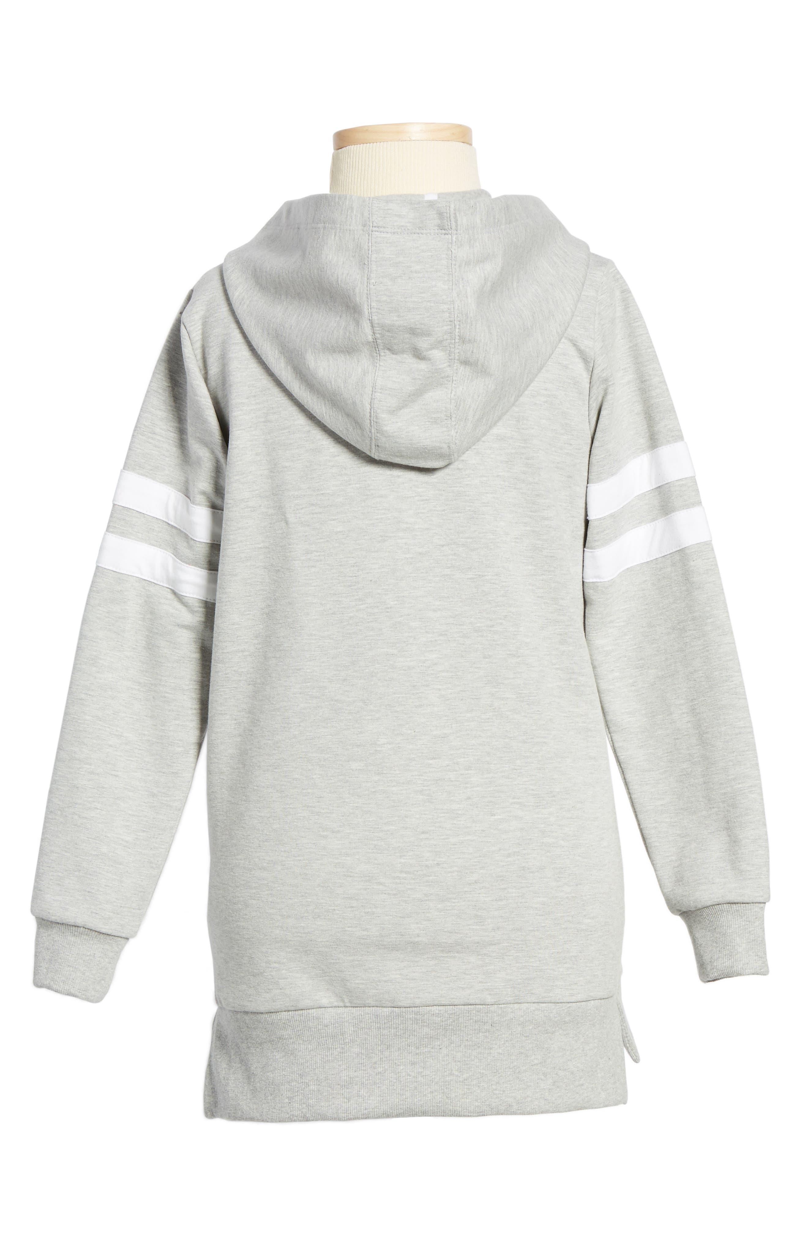 Sneaker Hoodie Dress,                             Alternate thumbnail 3, color,                             Grey