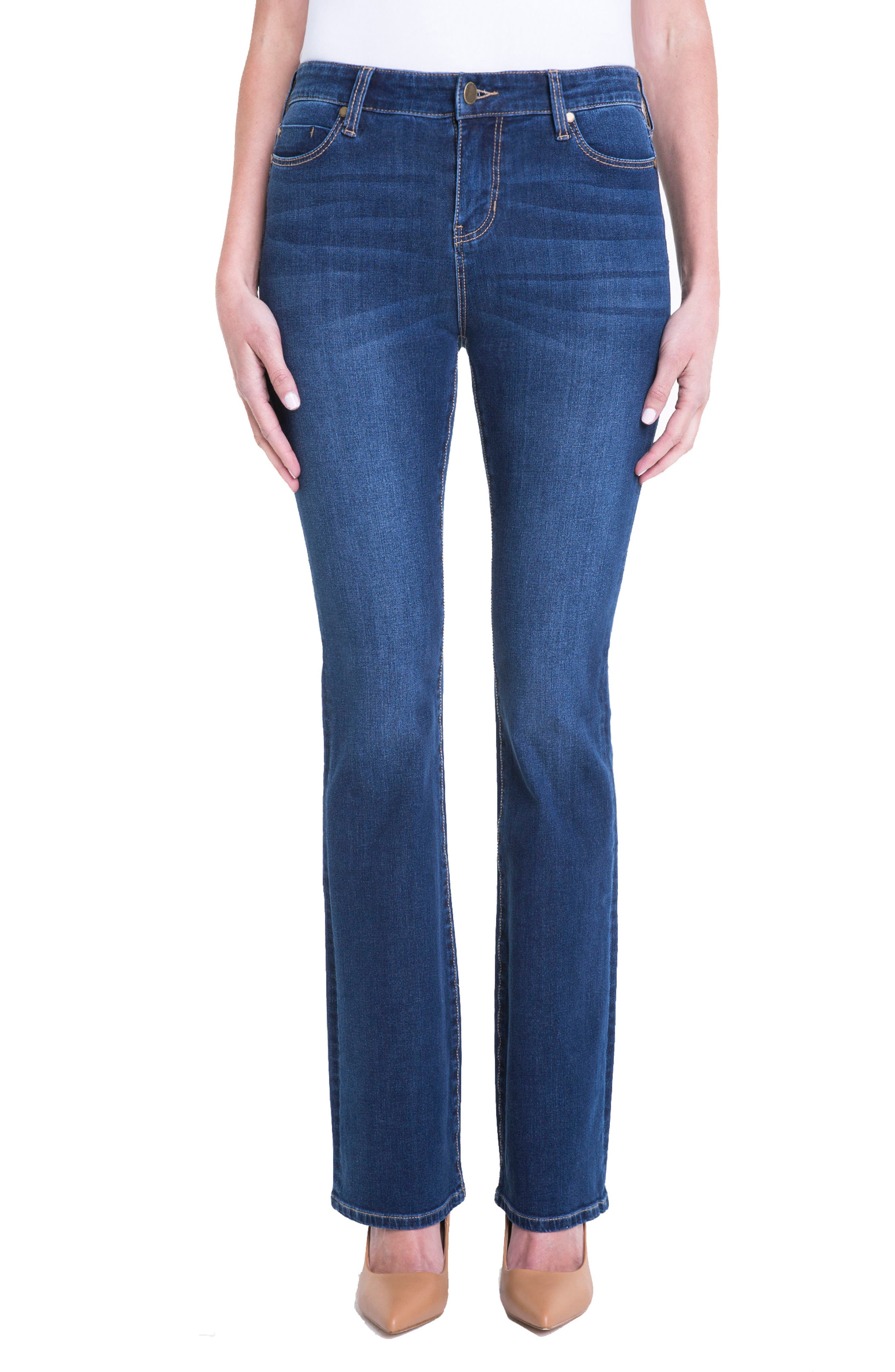 Lucy Stretch Bootcut Jeans,                             Main thumbnail 1, color,                             Lynx Wash