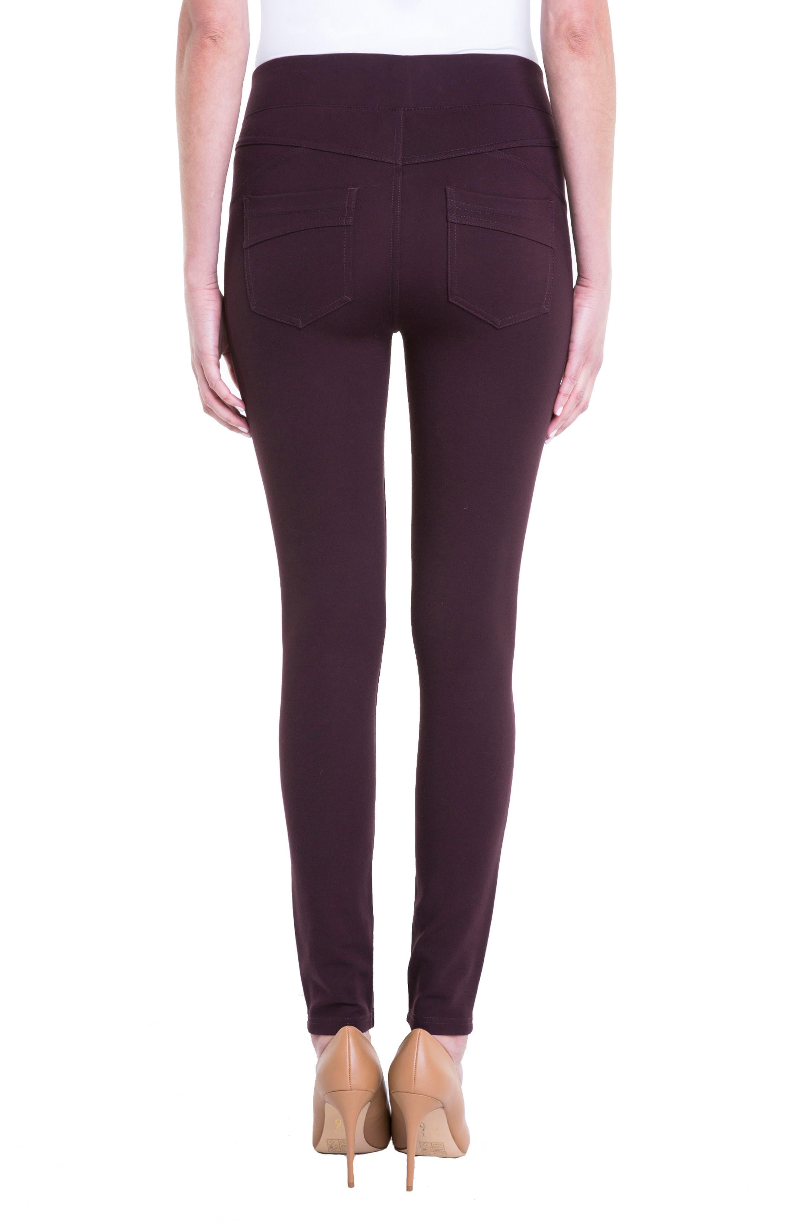 Alternate Image 2  - Liverpool Jeans Company Piper Hugger Leggings (Aubergine)