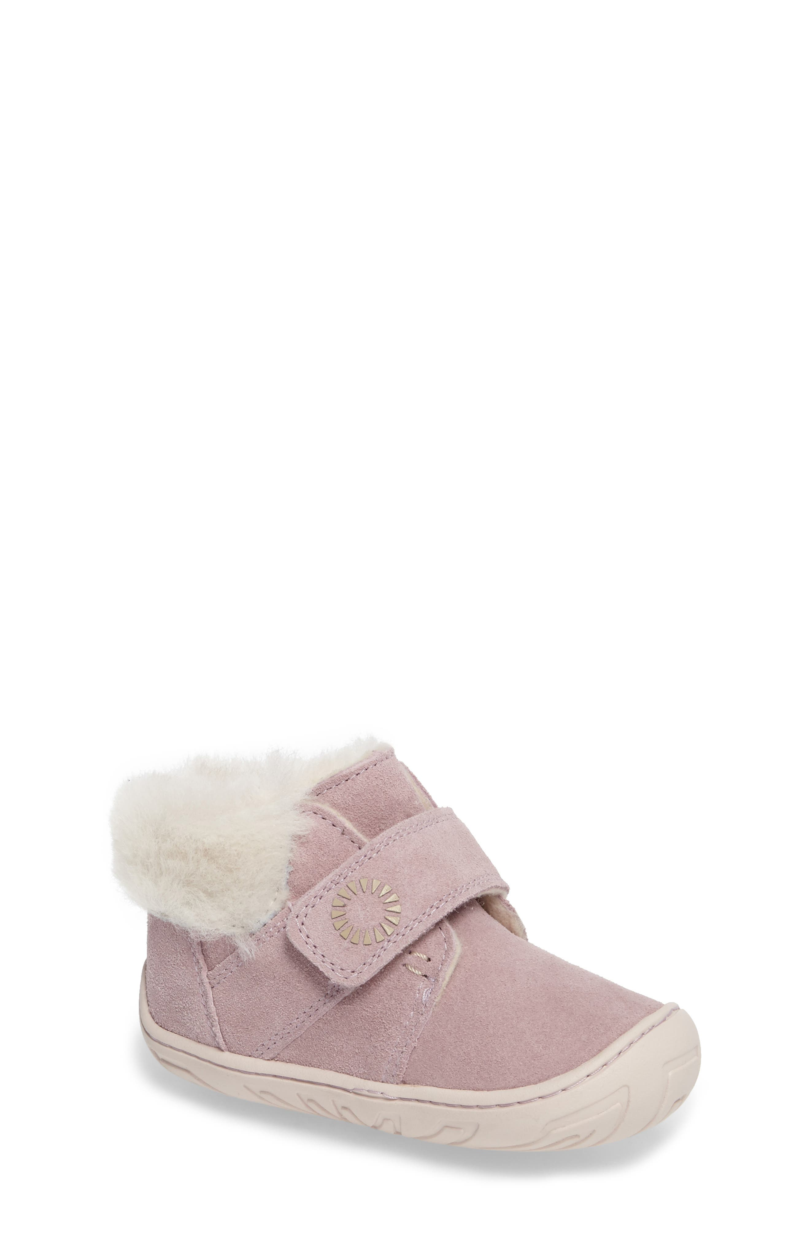 Alternate Image 1 Selected - UGG® Jorgen Genuine Shearling Bootie (Baby, Walker & Toddler)