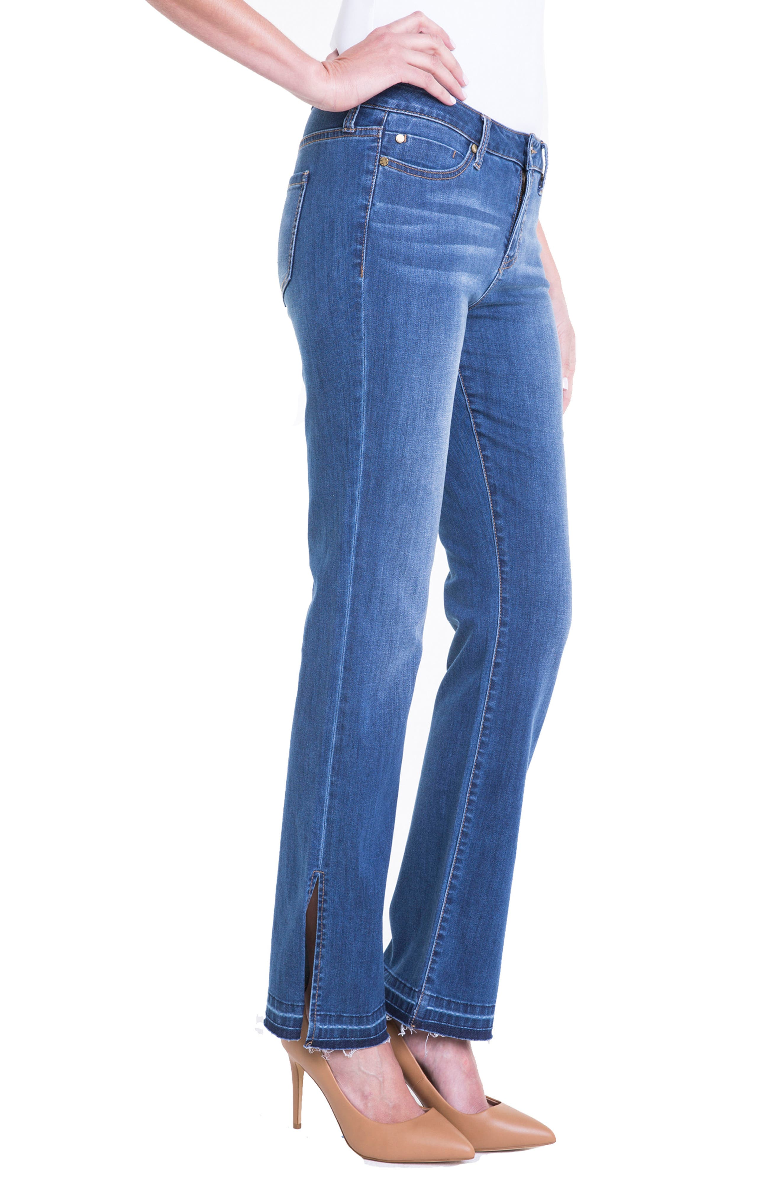 Alternate Image 3  - Liverpool Jeans Company Tabitha Release Hem Straight Leg Jeans (Montauck Mid)