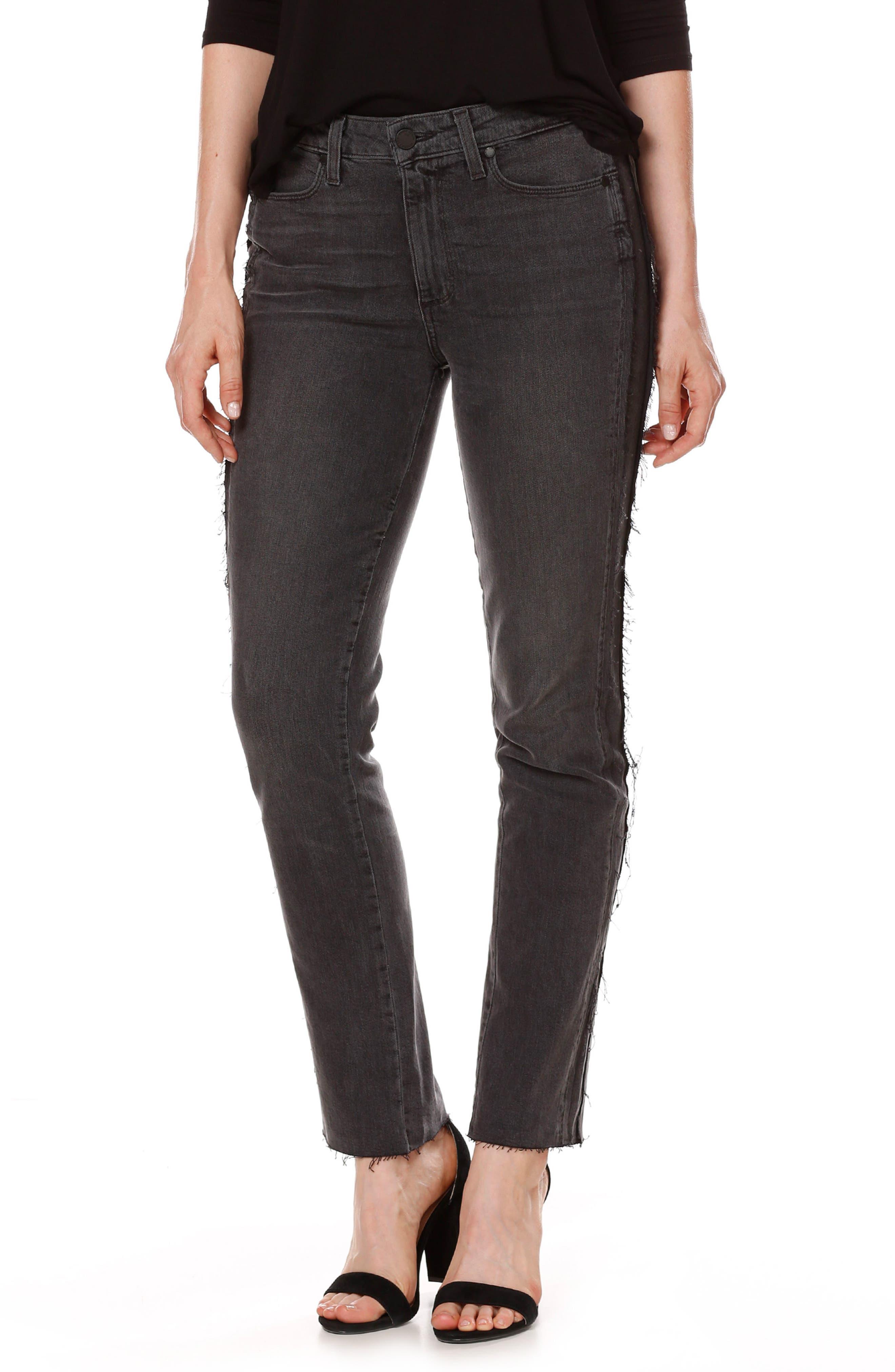 Main Image - PAIGE Julia Tux Straight Leg Jeans (Midnight Racer)