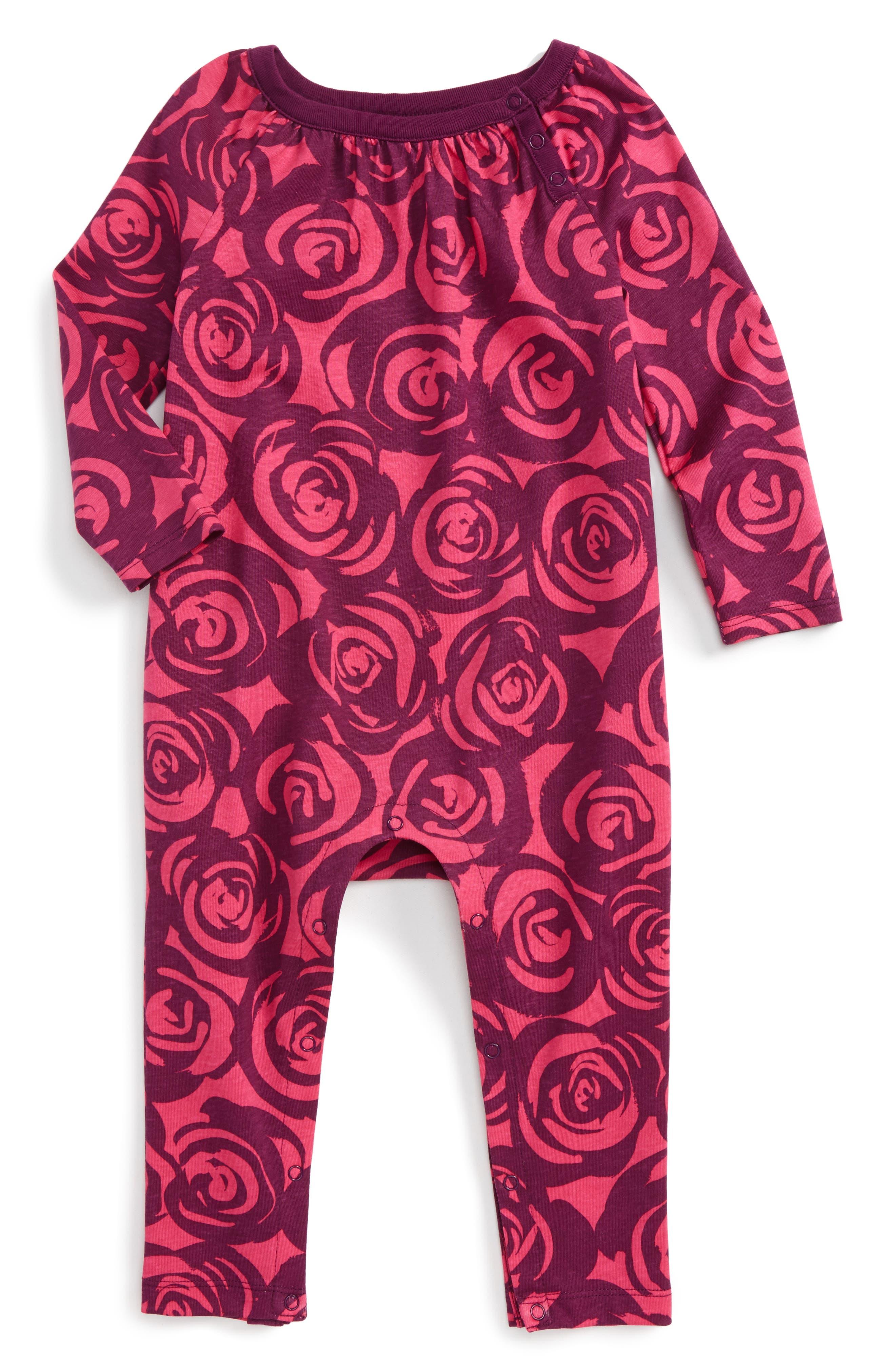 Tea Collection Rennie Rose Romper (Baby Girls)