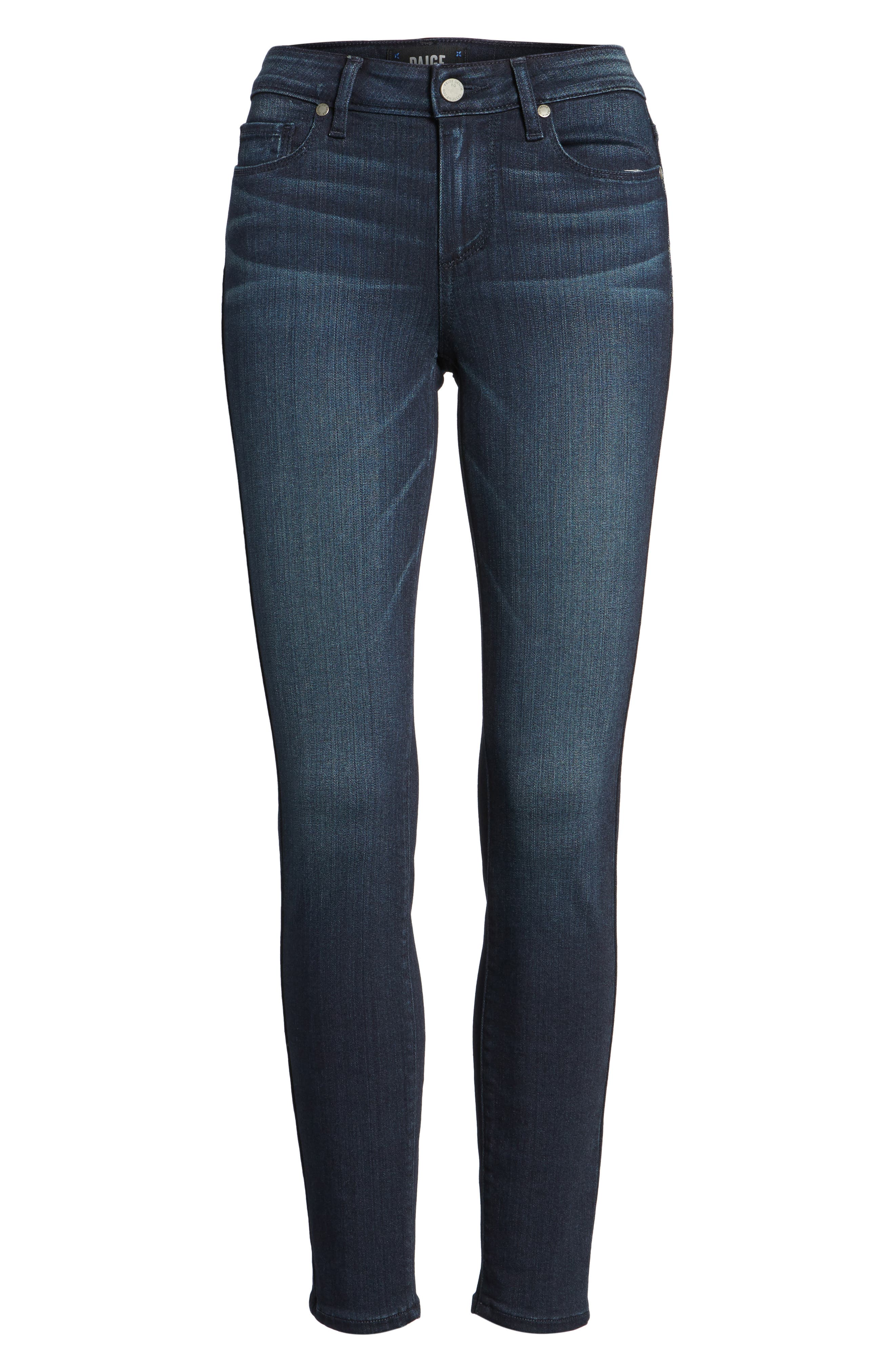 Transcend - Verdugo Ankle Skinny Jeans,                             Alternate thumbnail 7, color,                             Midlake