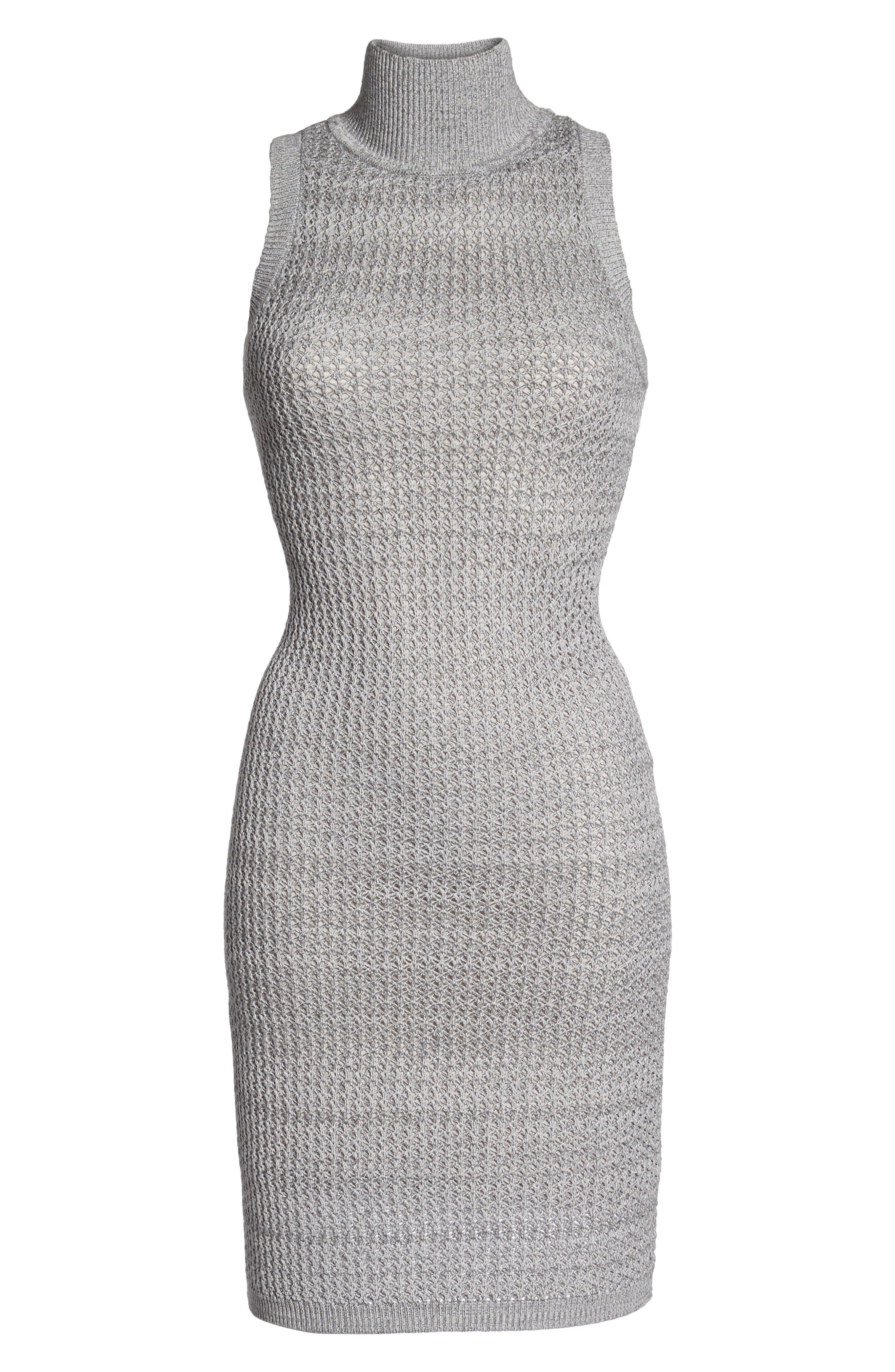 We Shall Overcome Body-Con Dress,                             Alternate thumbnail 7, color,                             Grey