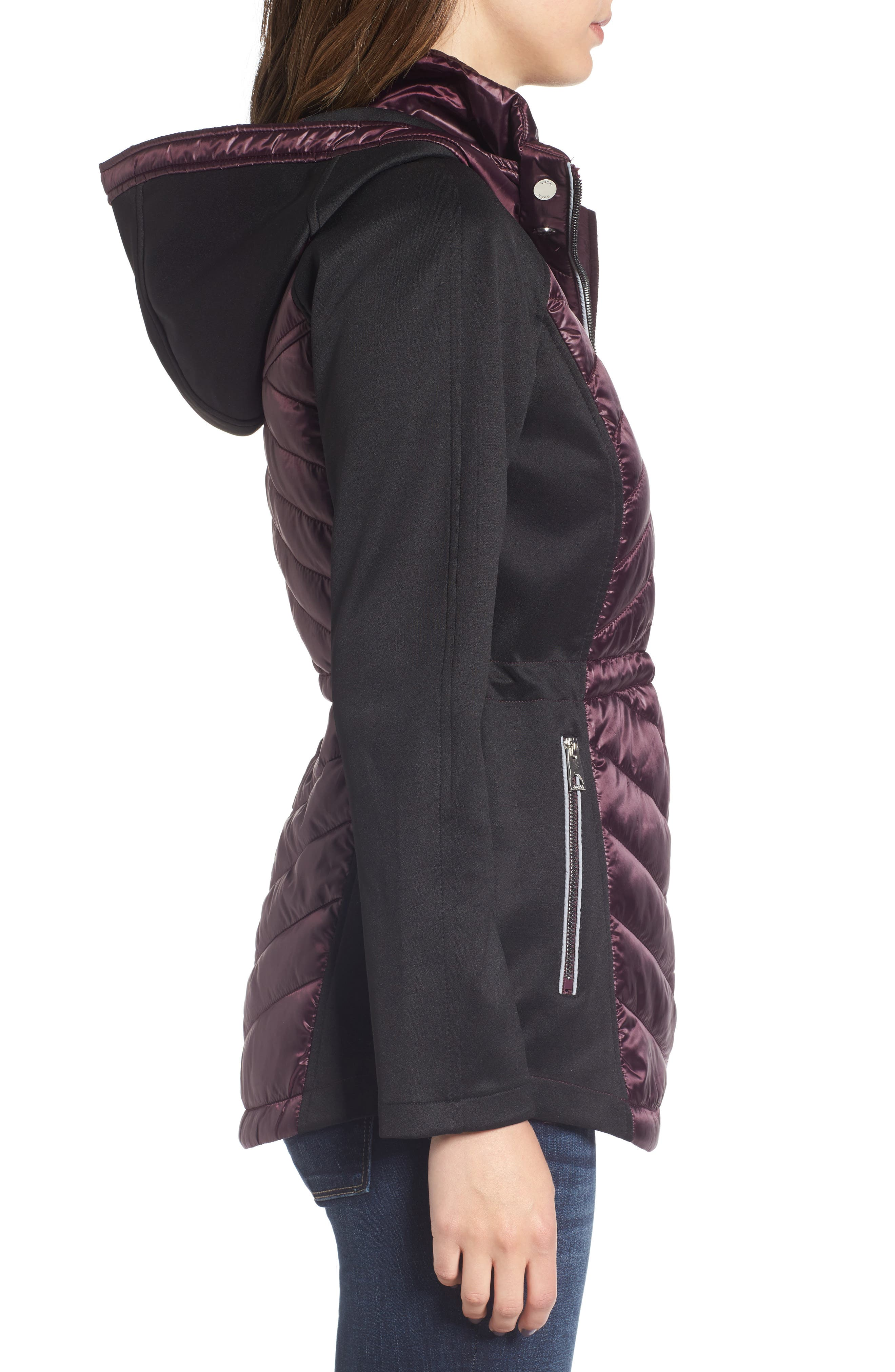 Insulated Anorak Jacket,                             Alternate thumbnail 3, color,                             Wine