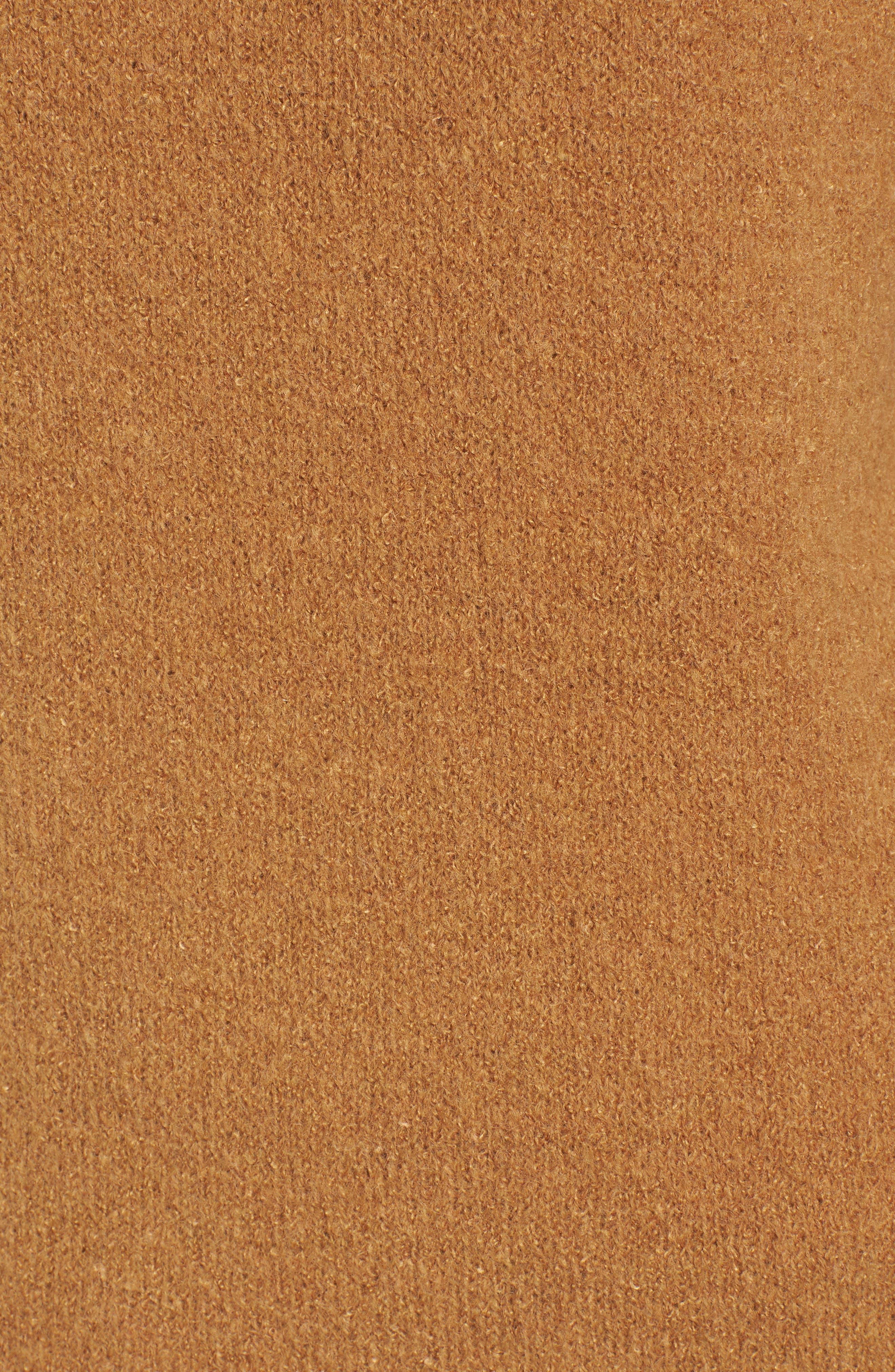 Bouclé Turtleneck Tunic Sweater,                             Alternate thumbnail 5, color,                             Brown Cattail