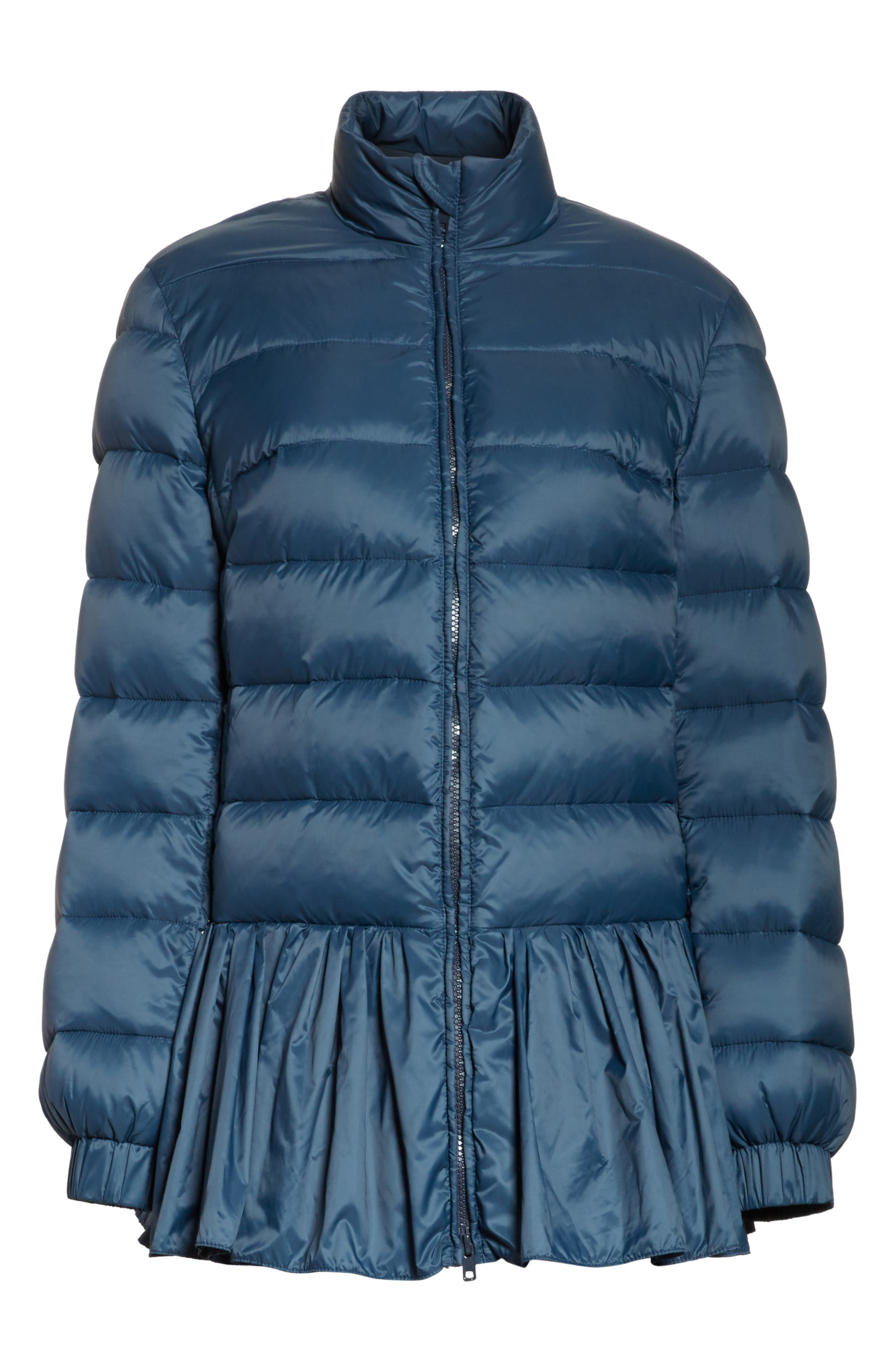 Quilted Peplum Jacket,                             Alternate thumbnail 6, color,                             Oltremare