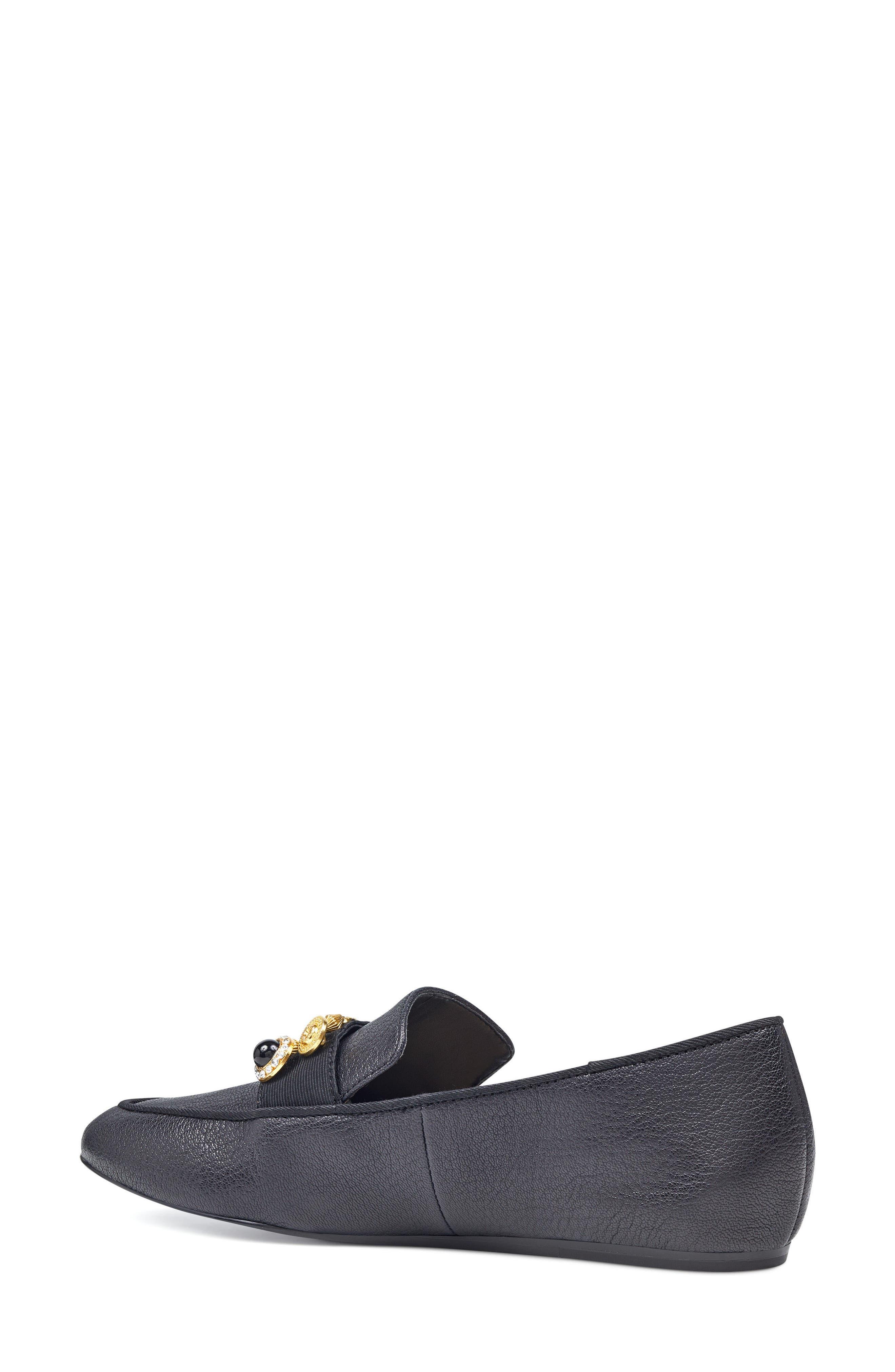 Baus Loafer Flat,                             Alternate thumbnail 2, color,                             Black/ Black Leather