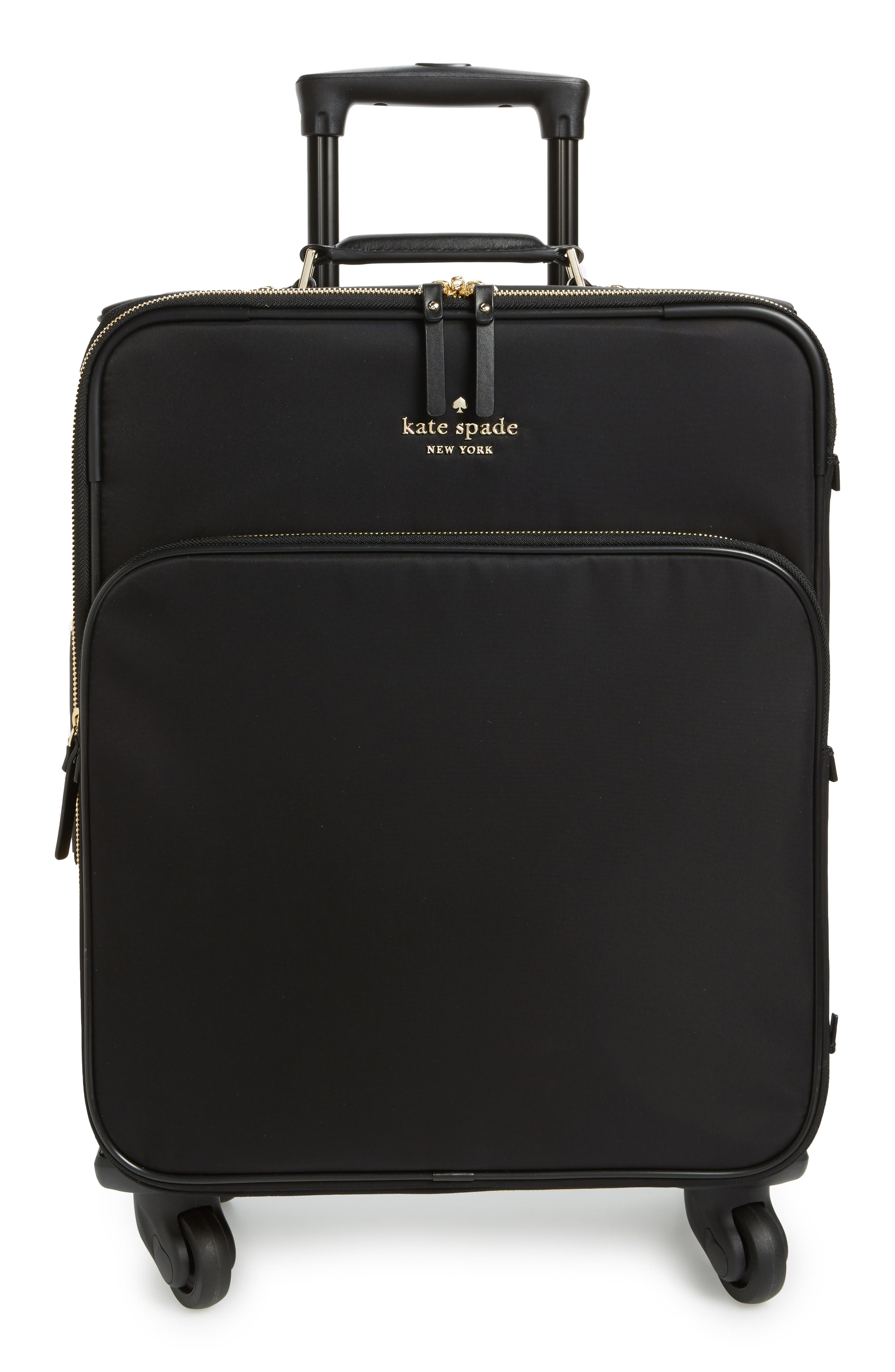 watson lane nylon international 21-inch rolling carry-on,                         Main,                         color, Black
