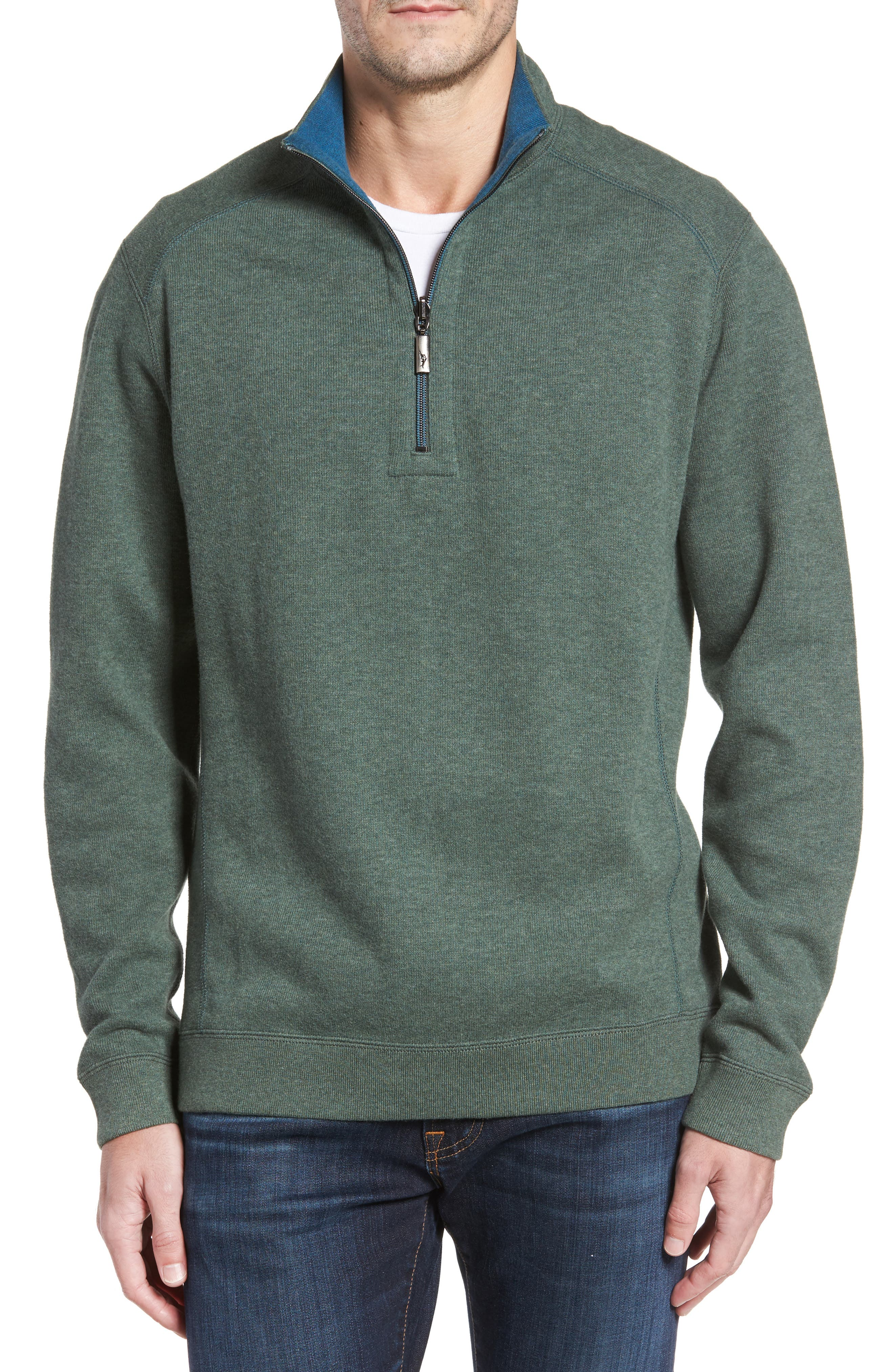 Tommy Bahama Flip Side Reversible Quarter Zip Pullover (Big & Tall)