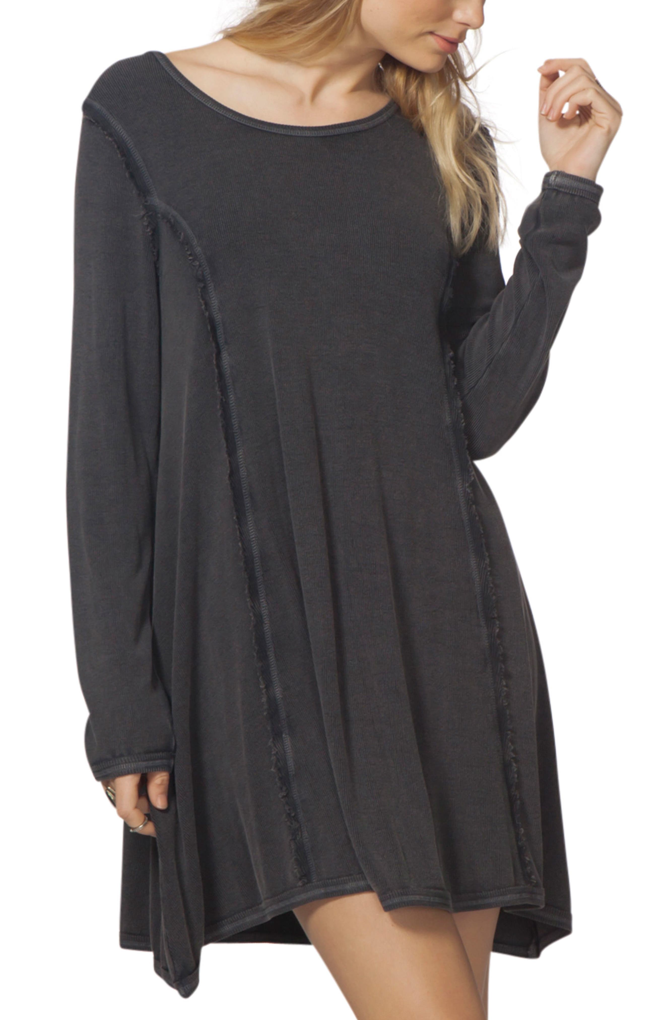 Margeaux Swing Dress,                         Main,                         color, Charcoal