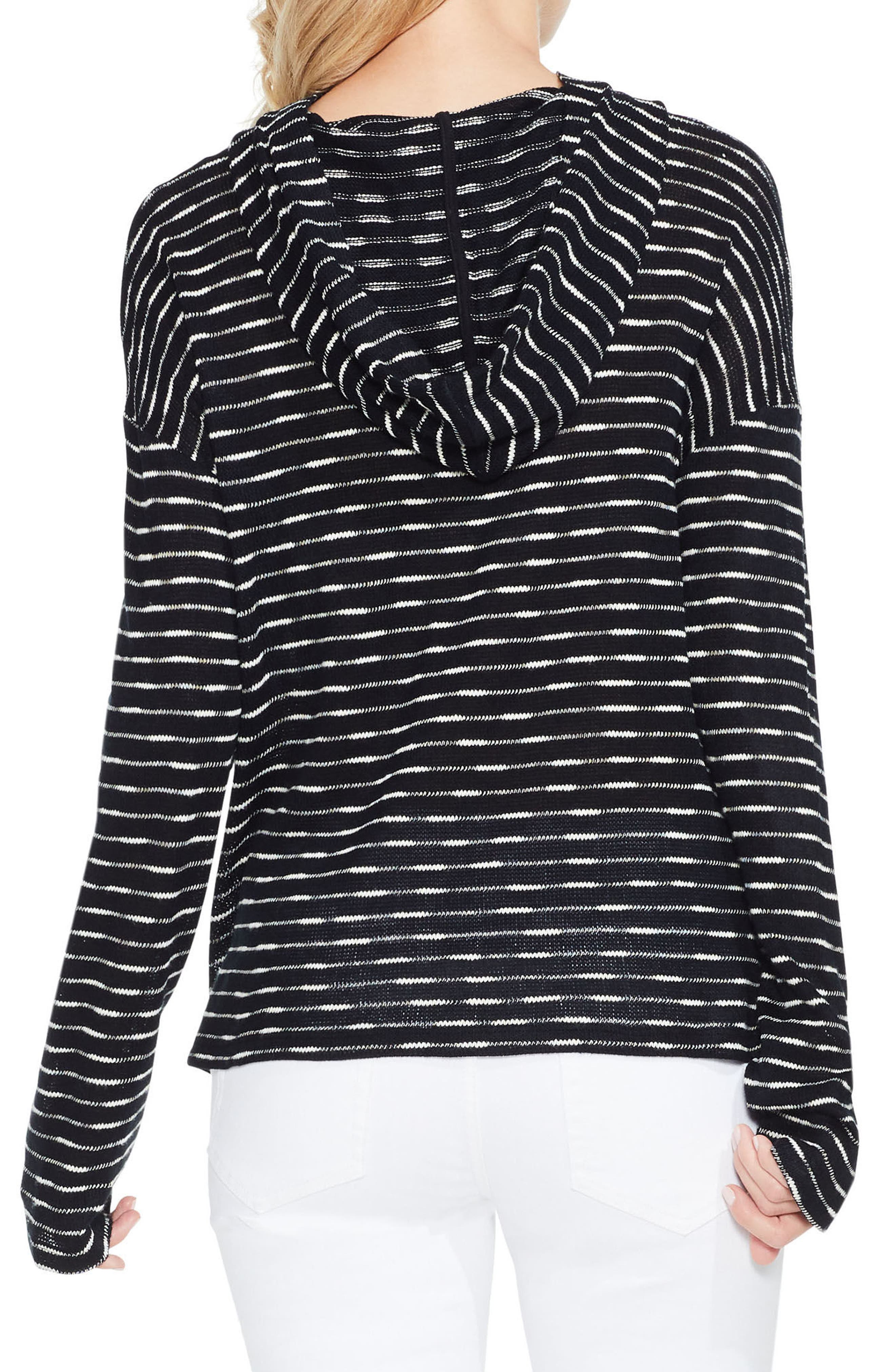 Alternate Image 3  - Two by Vince Camuto Stripe Hoodie