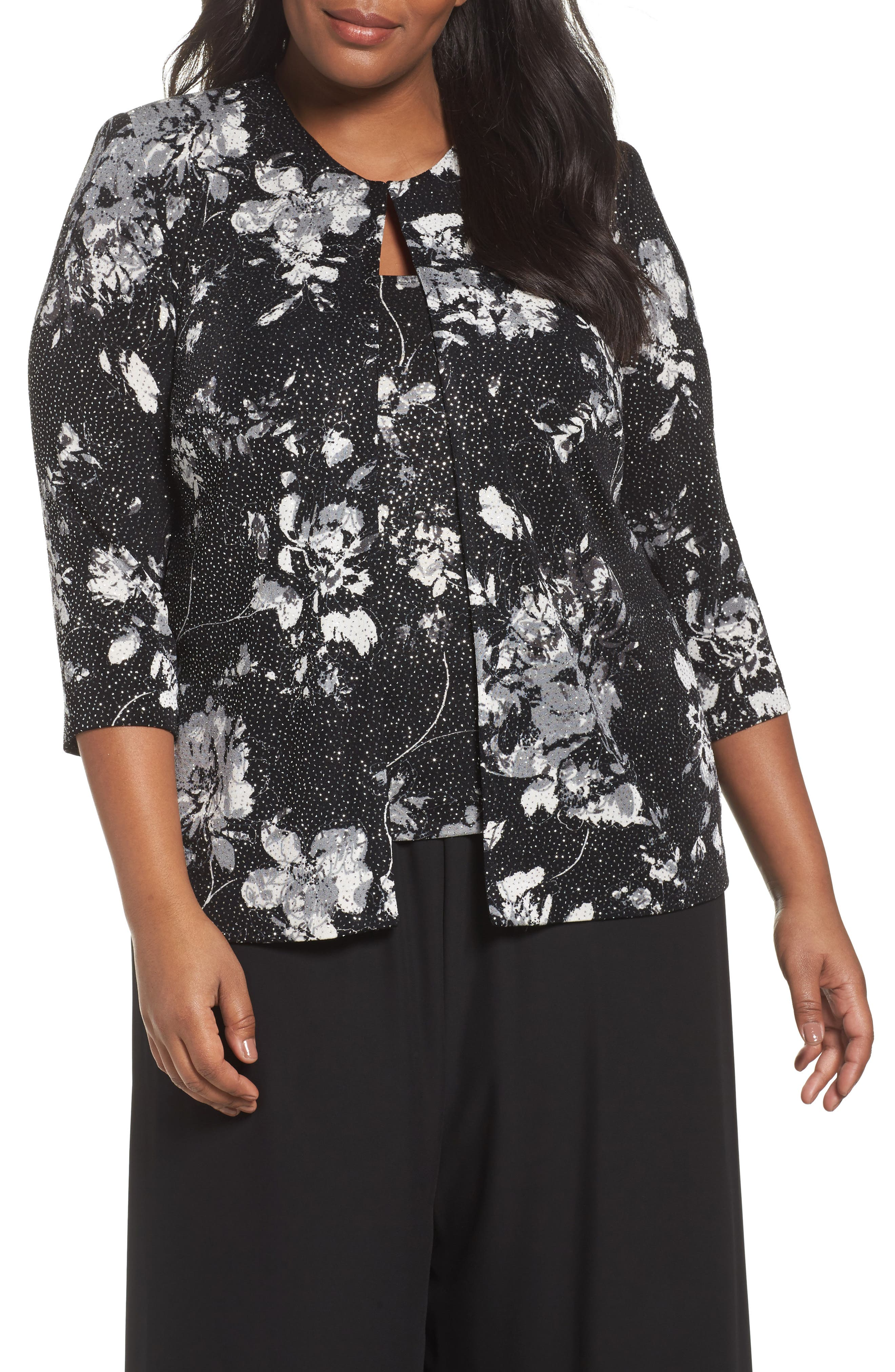 Print Twinset,                         Main,                         color, Black/ White