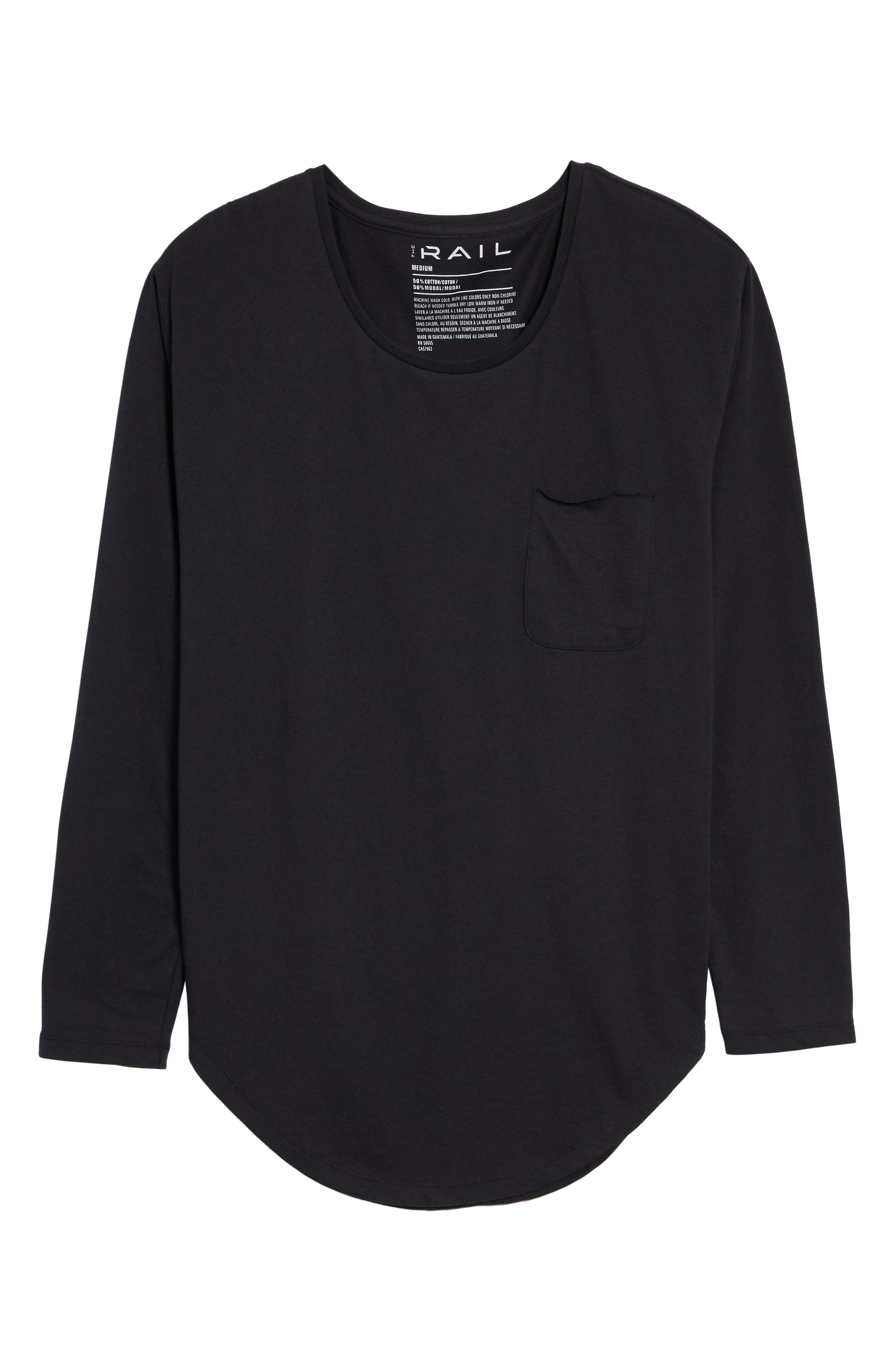 Shirttail T-Shirt,                             Alternate thumbnail 6, color,                             Black Rock