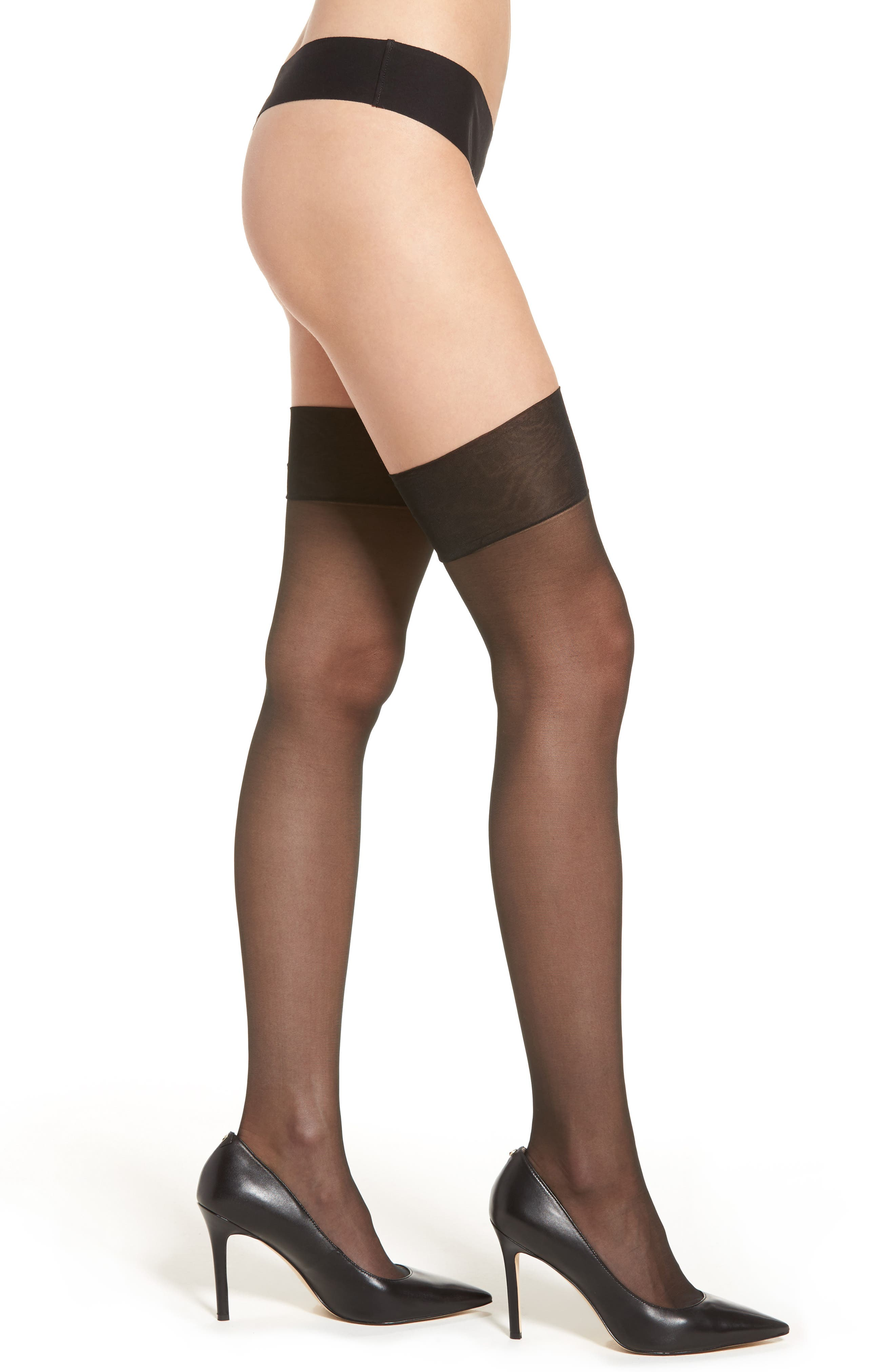Stockings,                         Main,                         color, Black