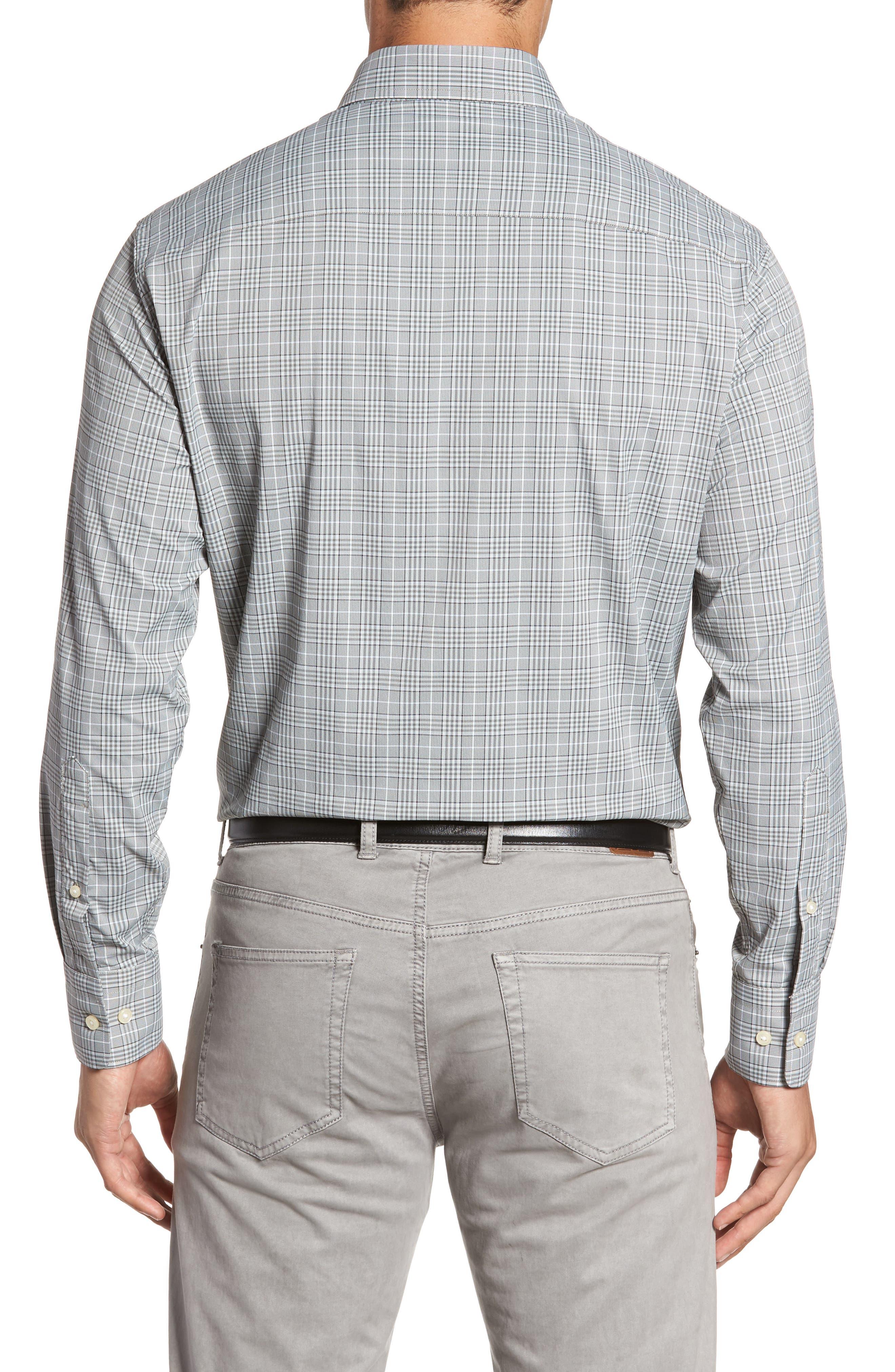 Vedder Gingham Regular Fit Performance Sport Shirt,                             Alternate thumbnail 2, color,                             Smoke