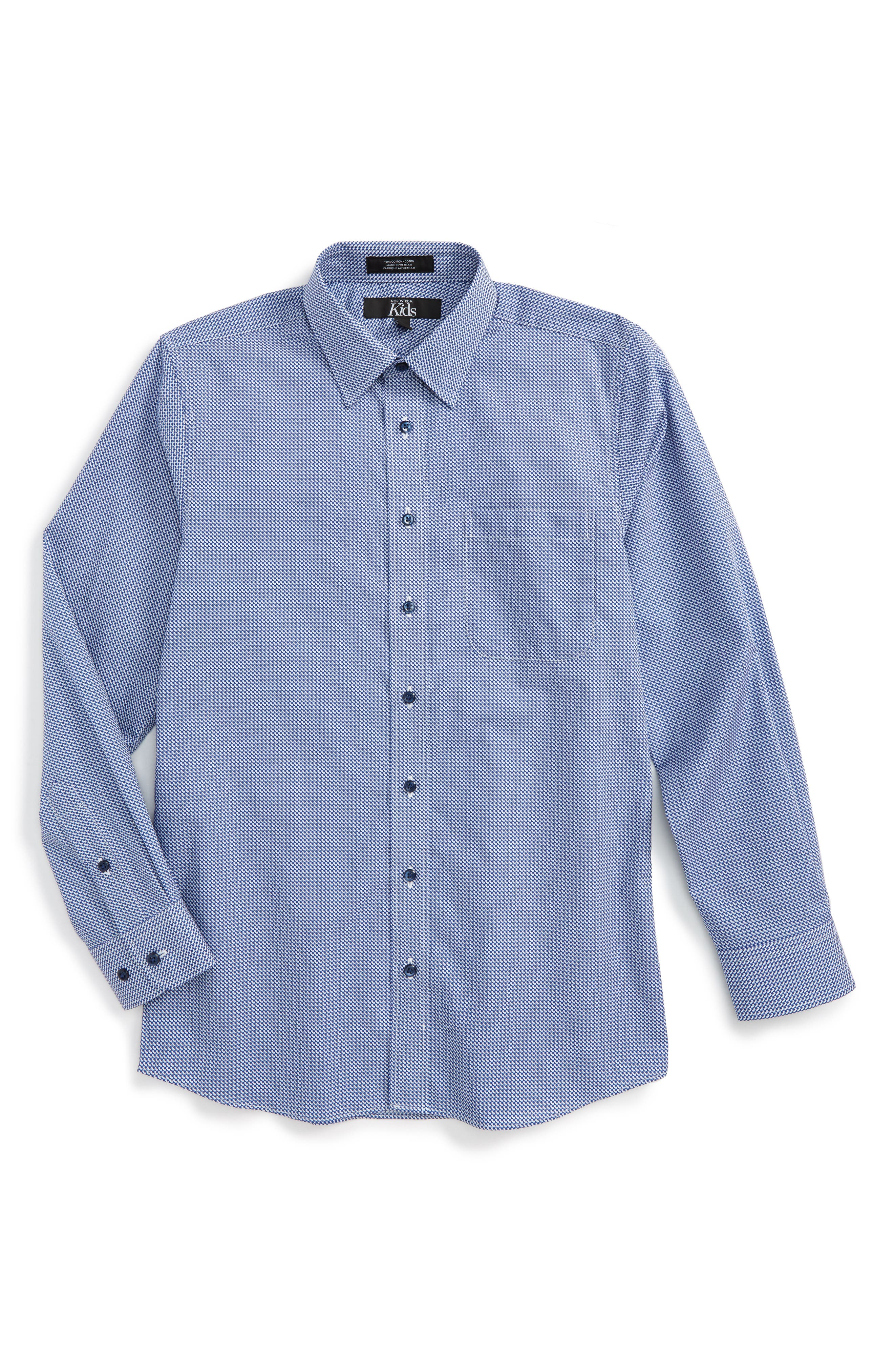 Main Image - Nordstrom Neat Dress Shirt (Big Boys)