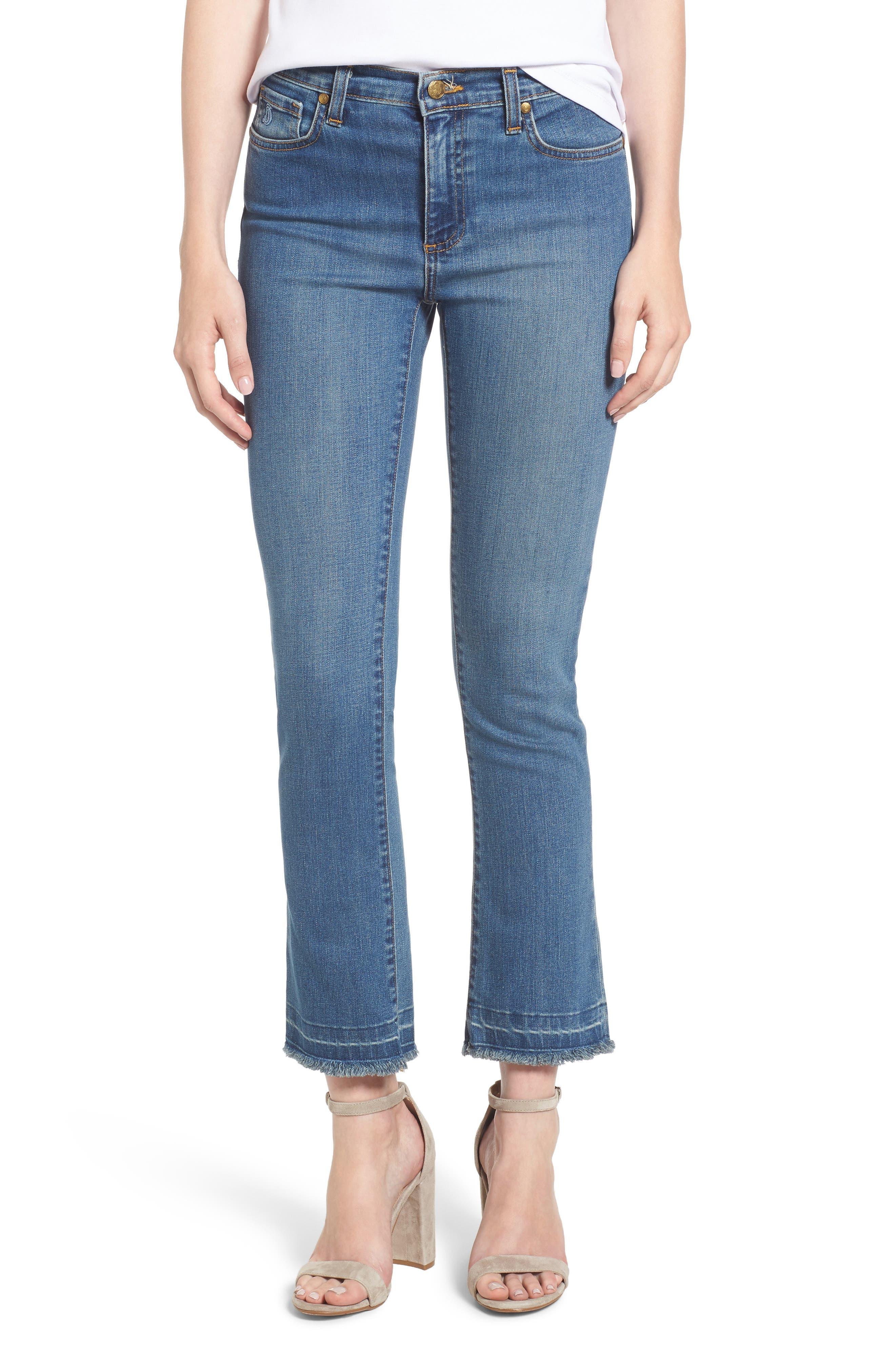 Crop Flare Jeans,                         Main,                         color, Medium Wash