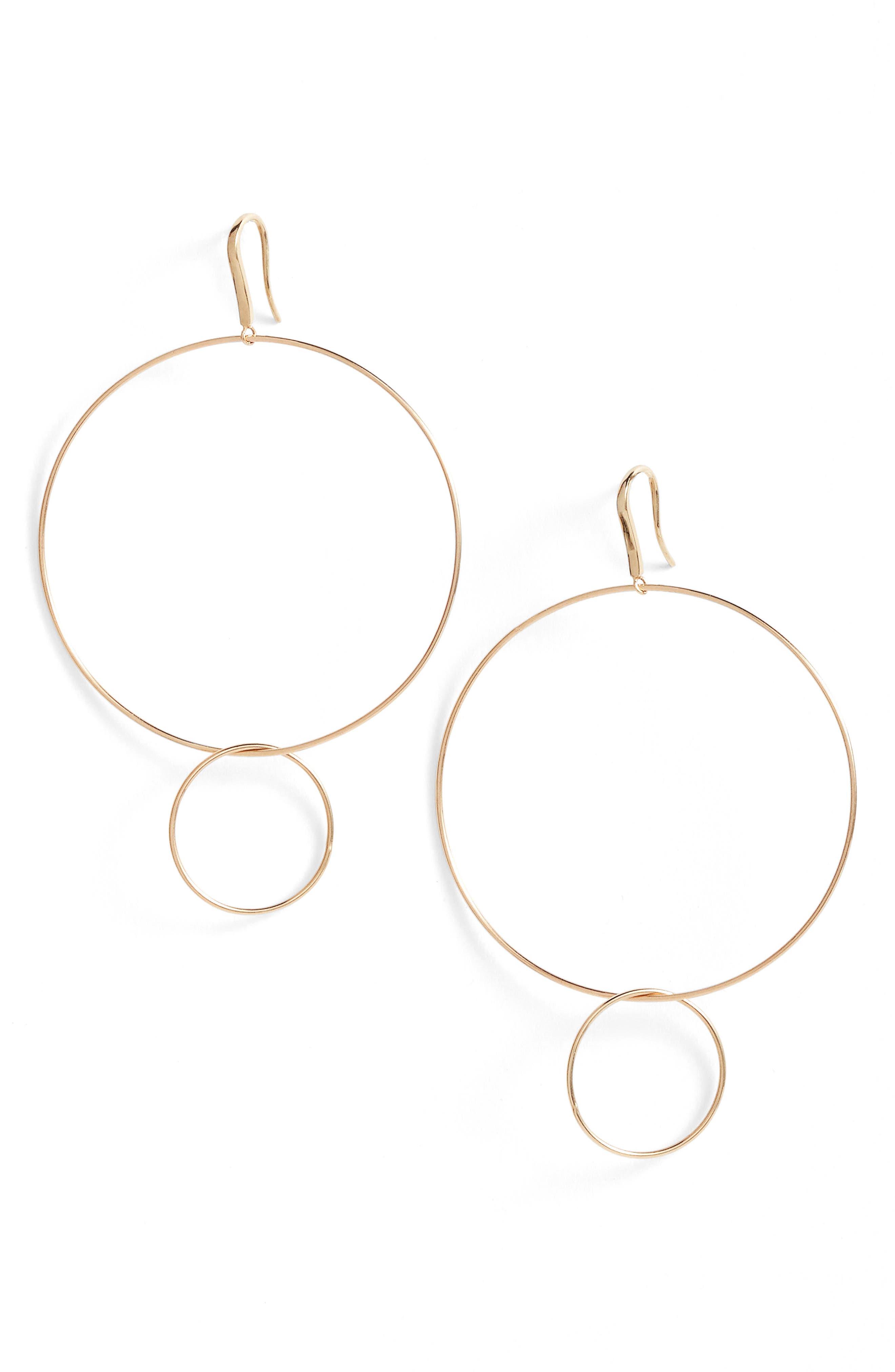 LANA JEWELRY Frontal Hoop Earrings