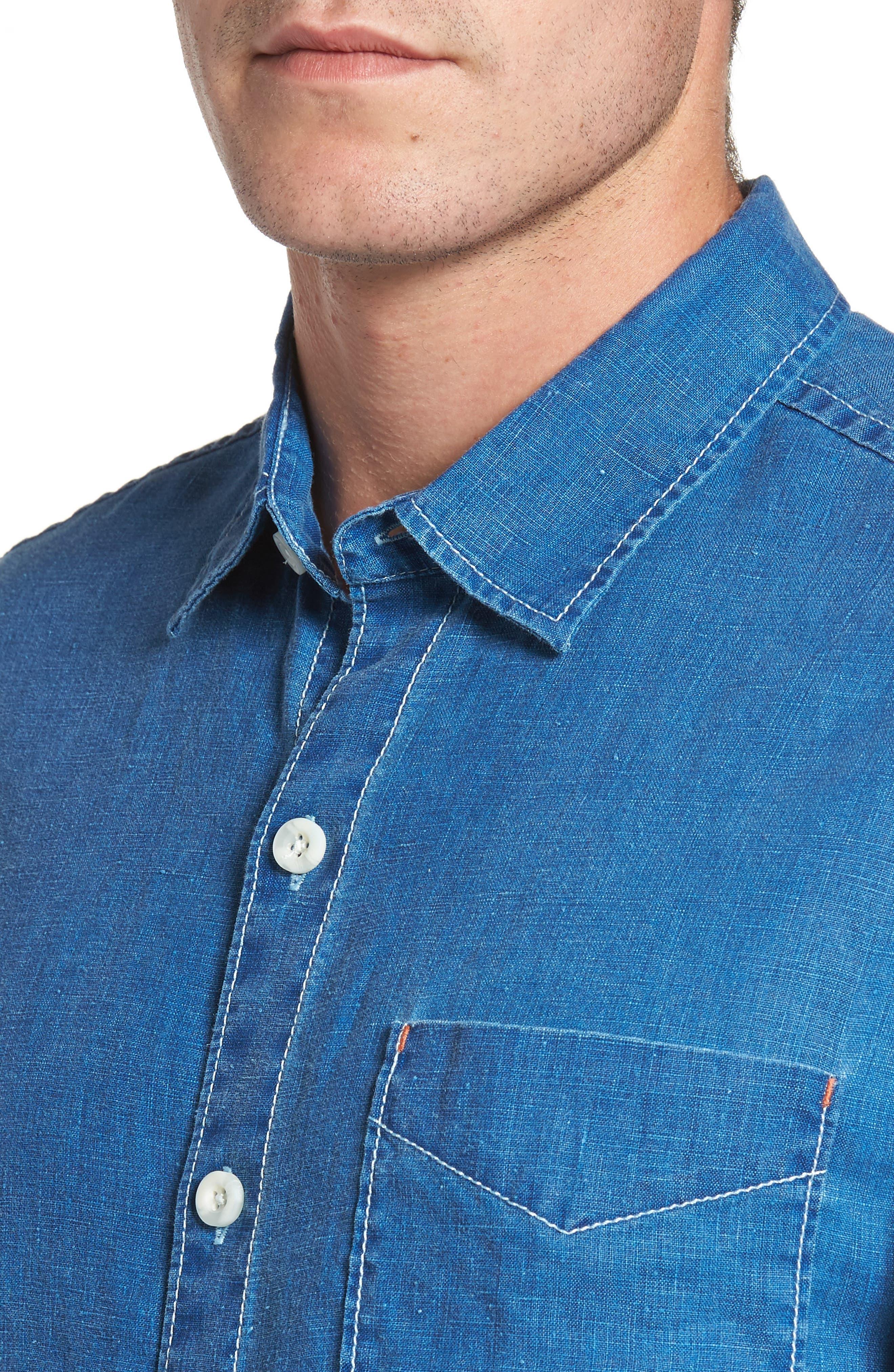 Alternate Image 4  - Tommy Bahama Sea Glass Breezer Linen Sport Shirt