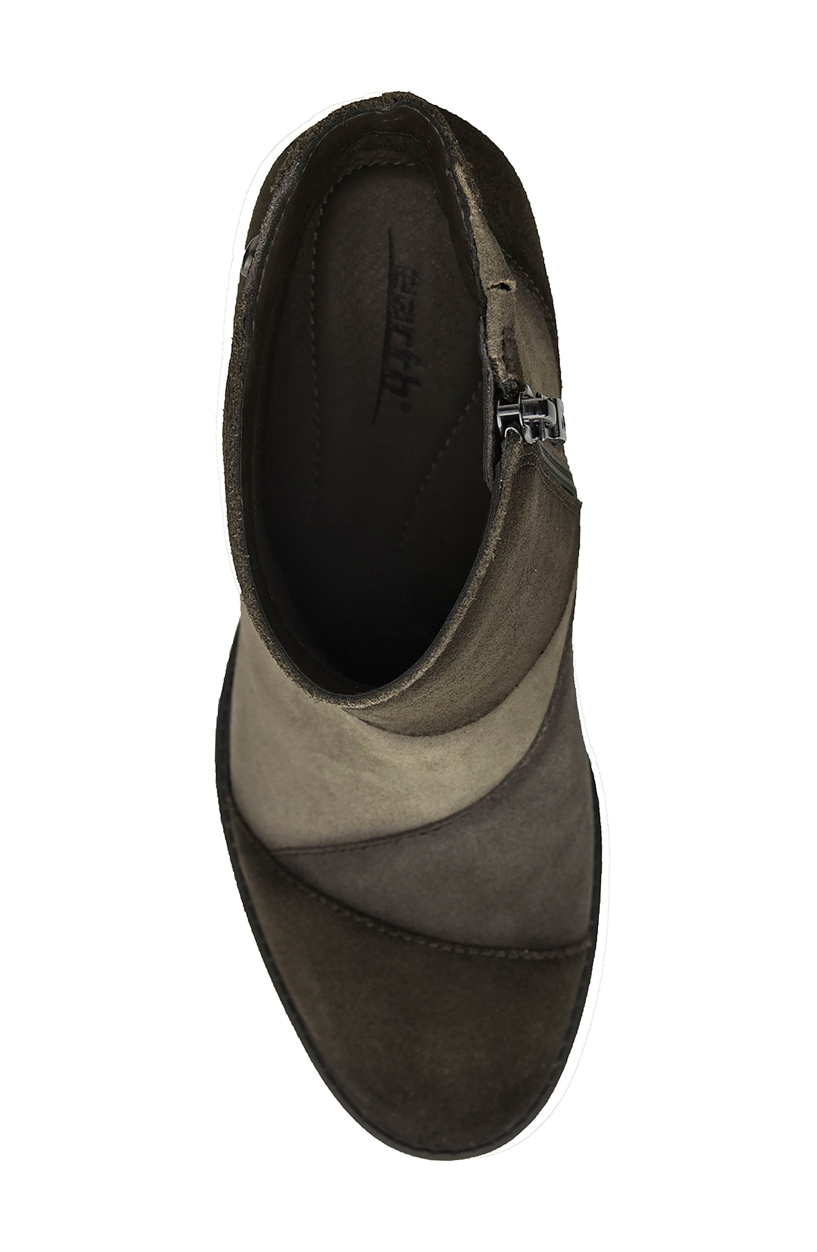 Malta Water Resistant Bootie,                             Alternate thumbnail 5, color,                             Olive Suede