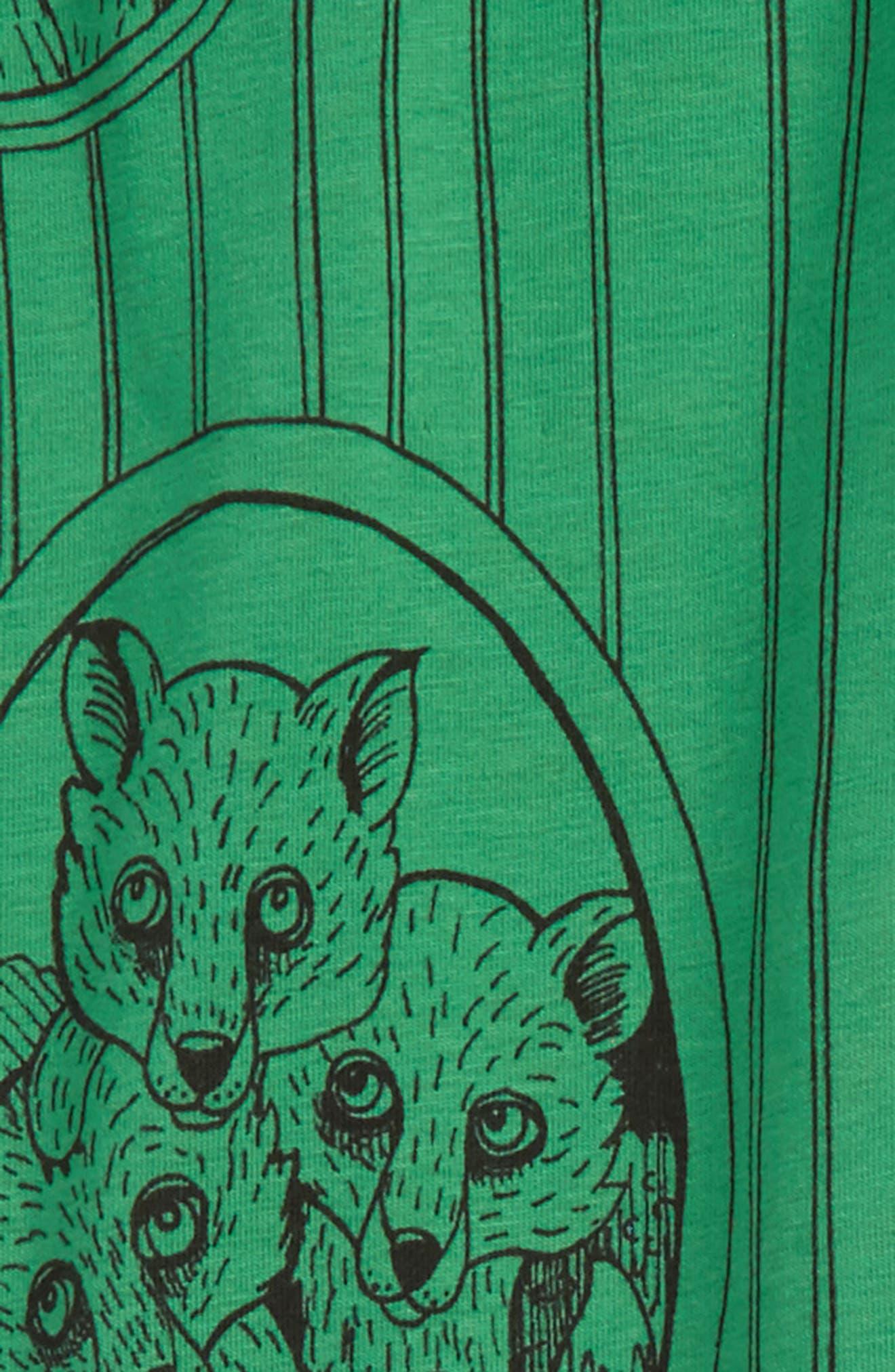 Fox Family Leggings,                             Alternate thumbnail 2, color,                             Green