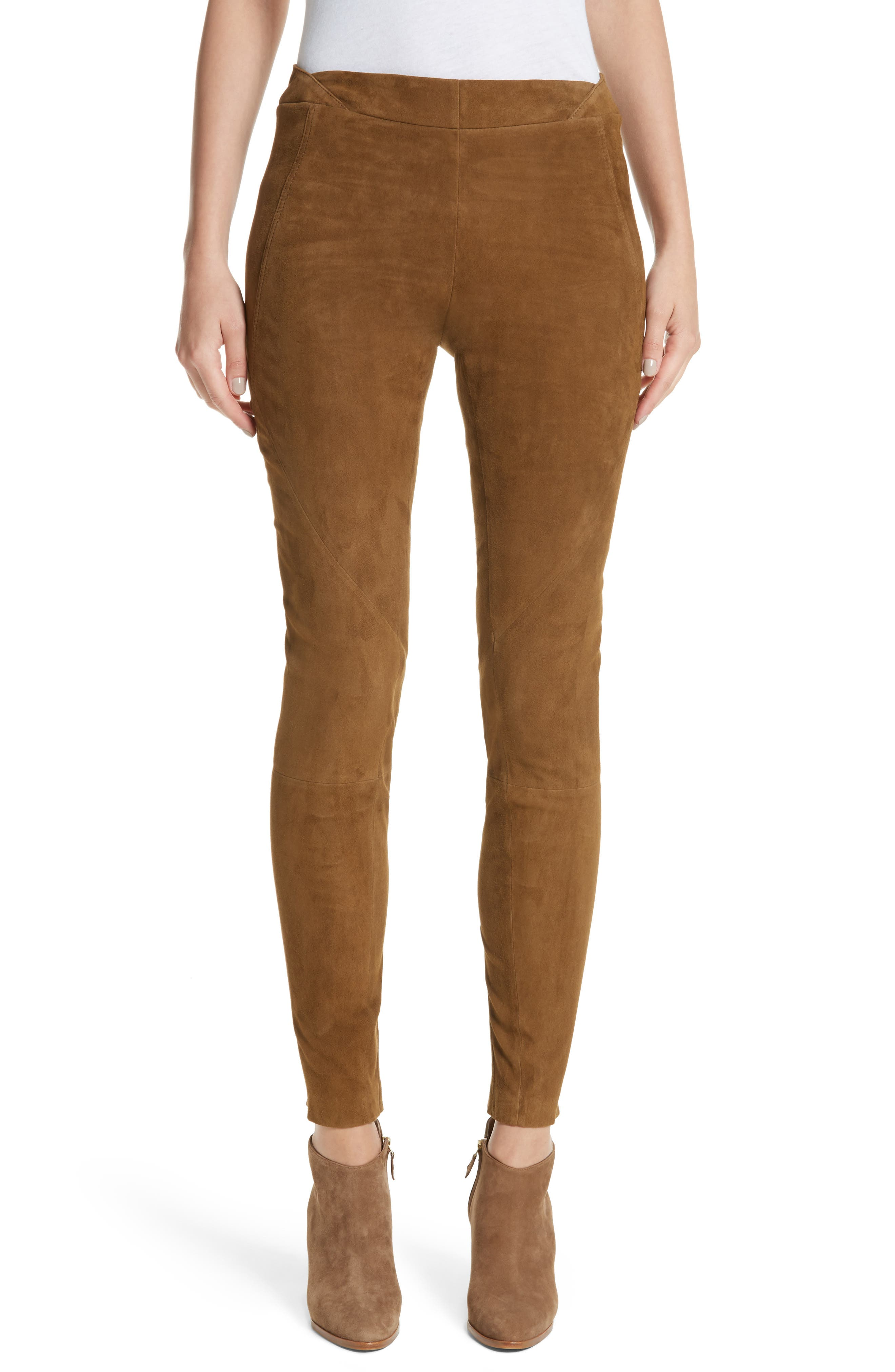 Brooklyn Suede Pants,                         Main,                         color, Sequoia