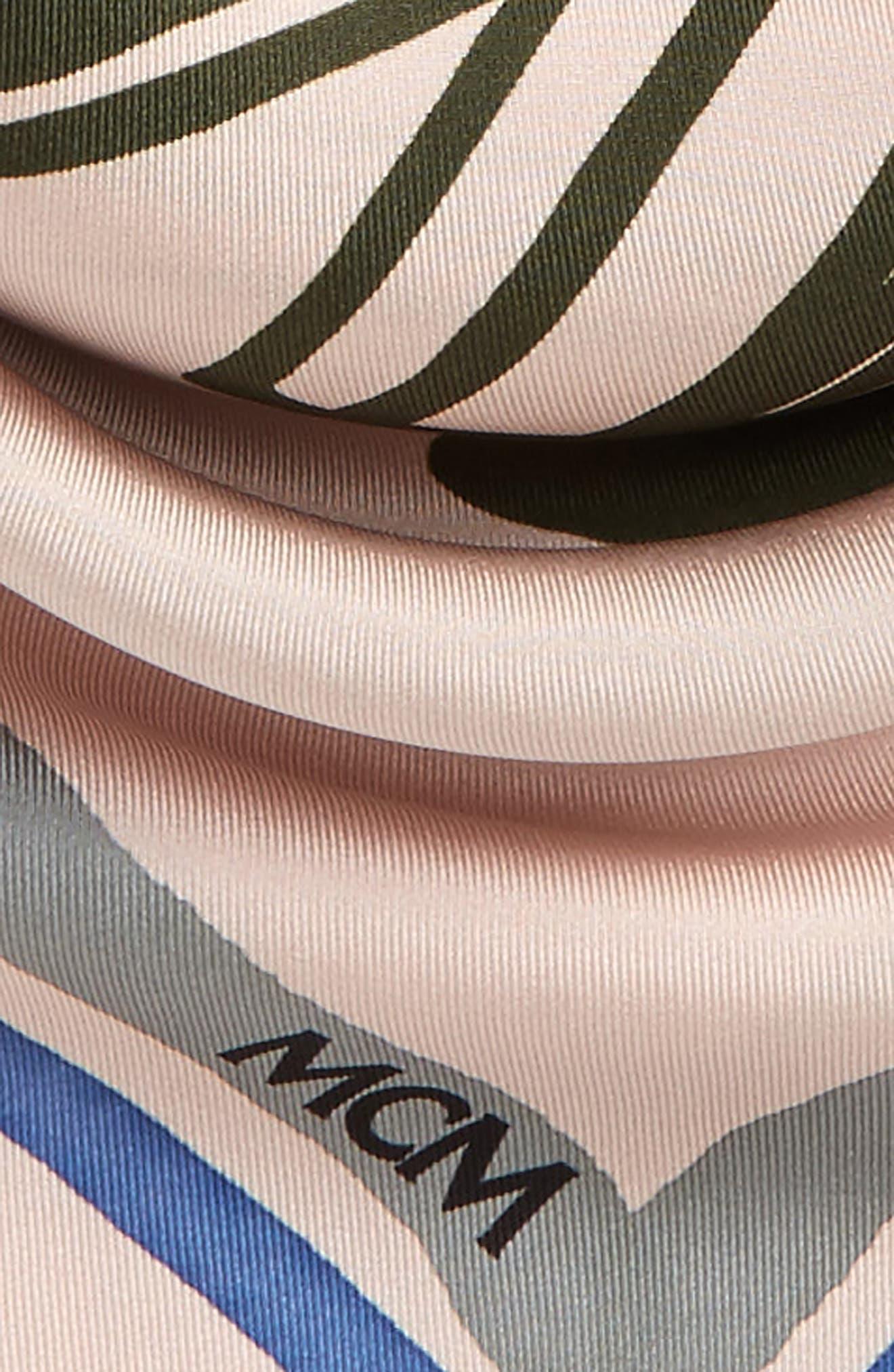 Handbag Print Square Silk Scarf,                             Alternate thumbnail 3, color,                             Dark Pink/ Mauve