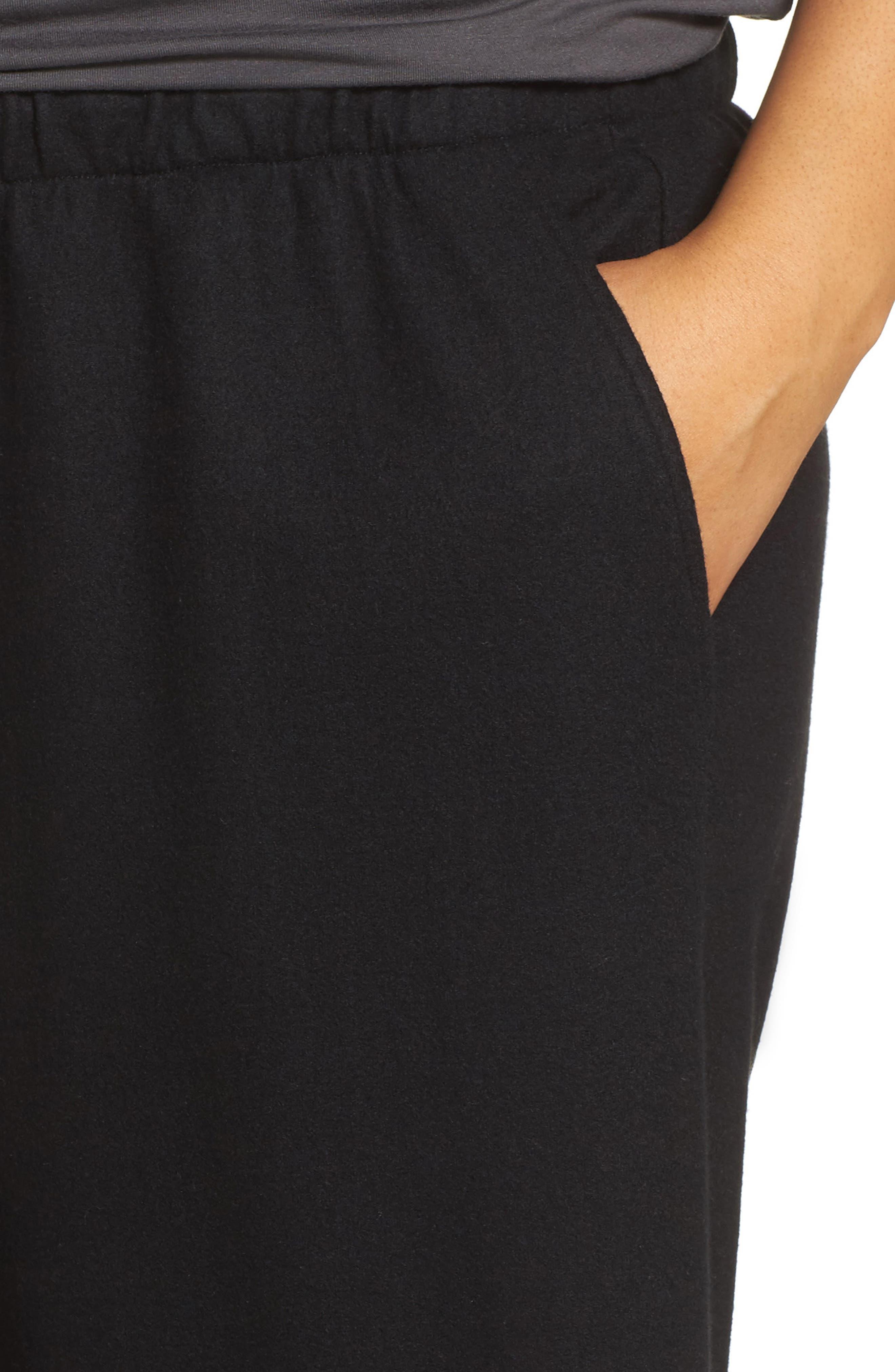 Alternate Image 4  - Eileen Fisher Wide Leg Drawstring Wool Pants (Plus Size)