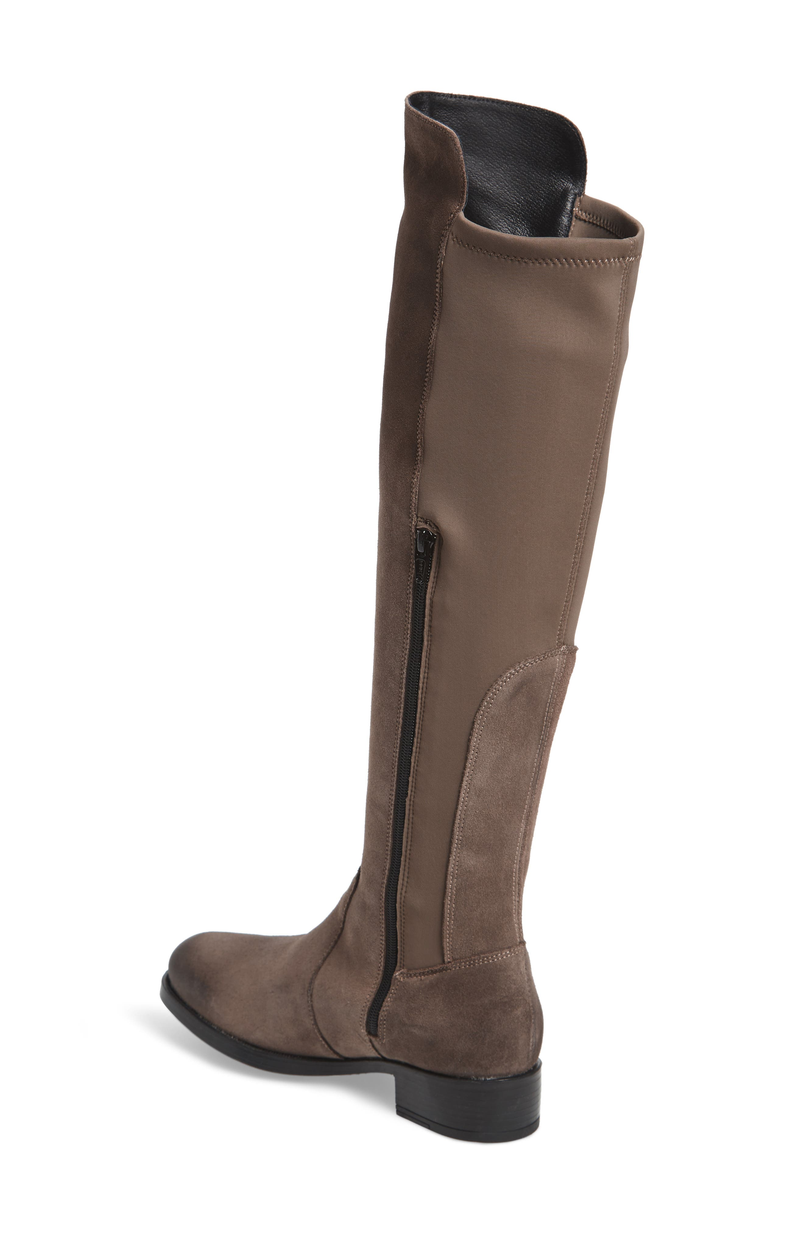 Bunt Waterproof Over the Knee Boot,                             Alternate thumbnail 2, color,                             Elephant Suede Leather