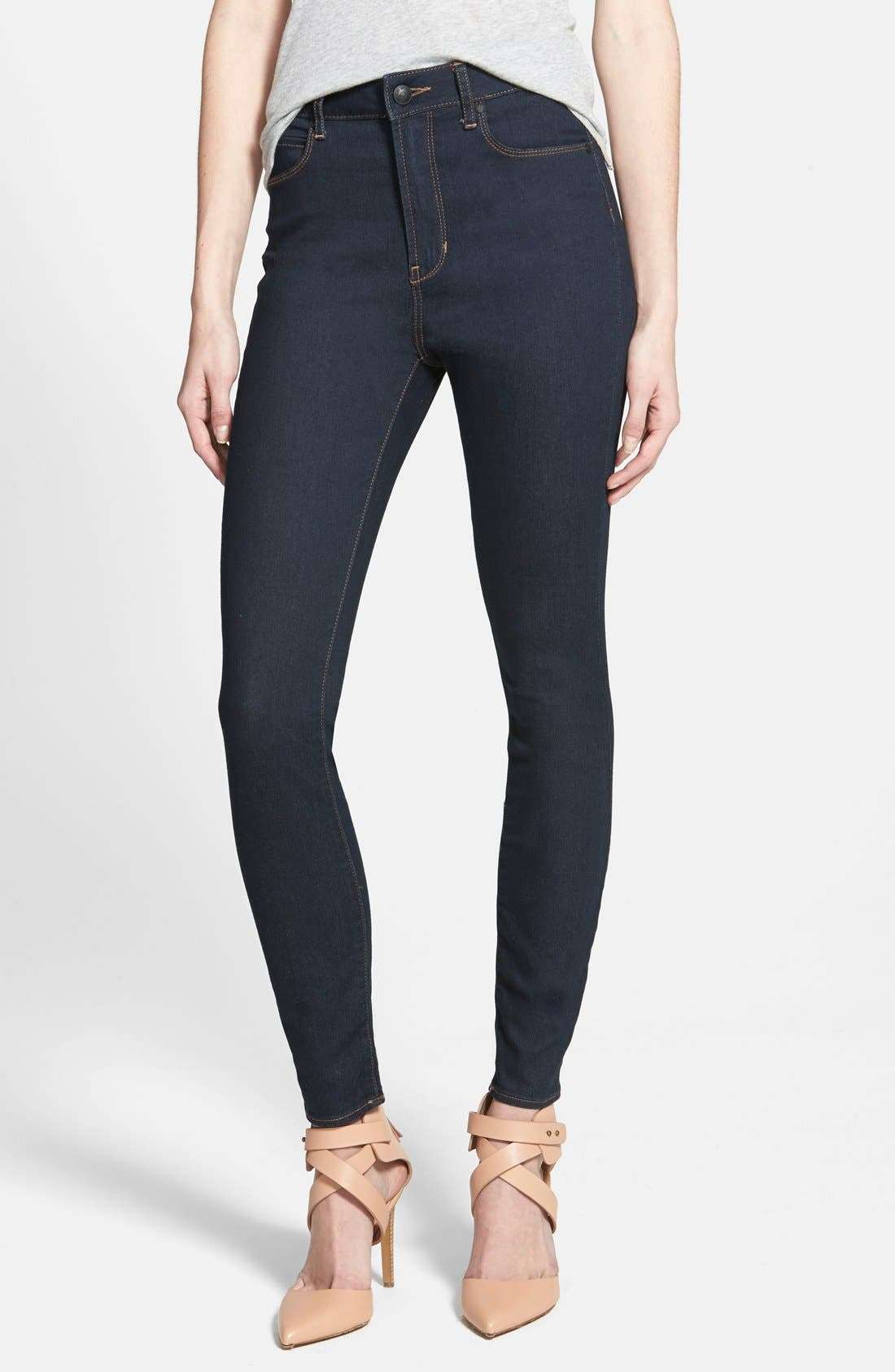 Main Image - Articles of Society 'Halley' High Waist Stretch Skinny Jeans