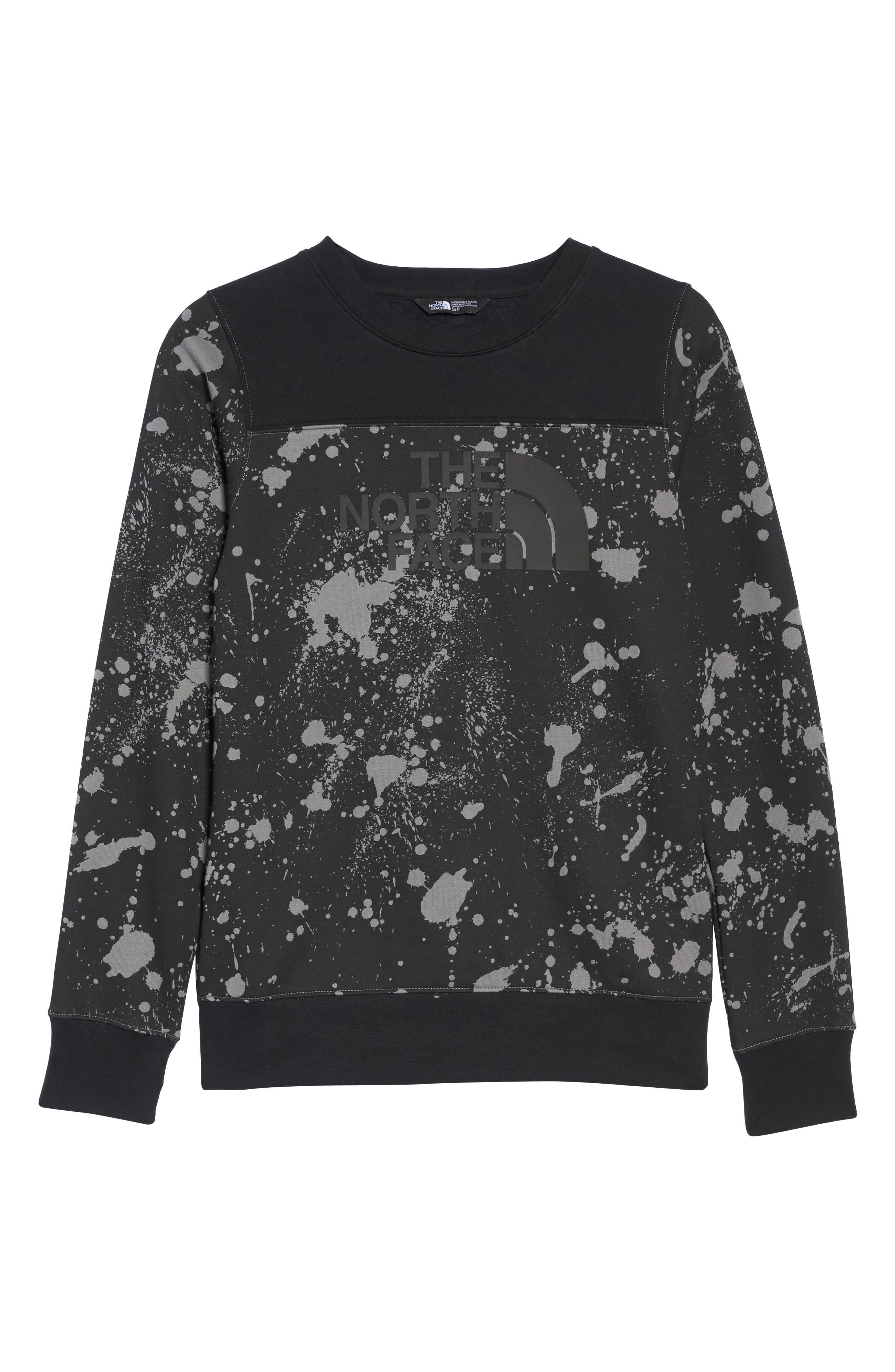 Half Dome Sweatshirt,                             Alternate thumbnail 7, color,                             Tnf Black Splatter Print