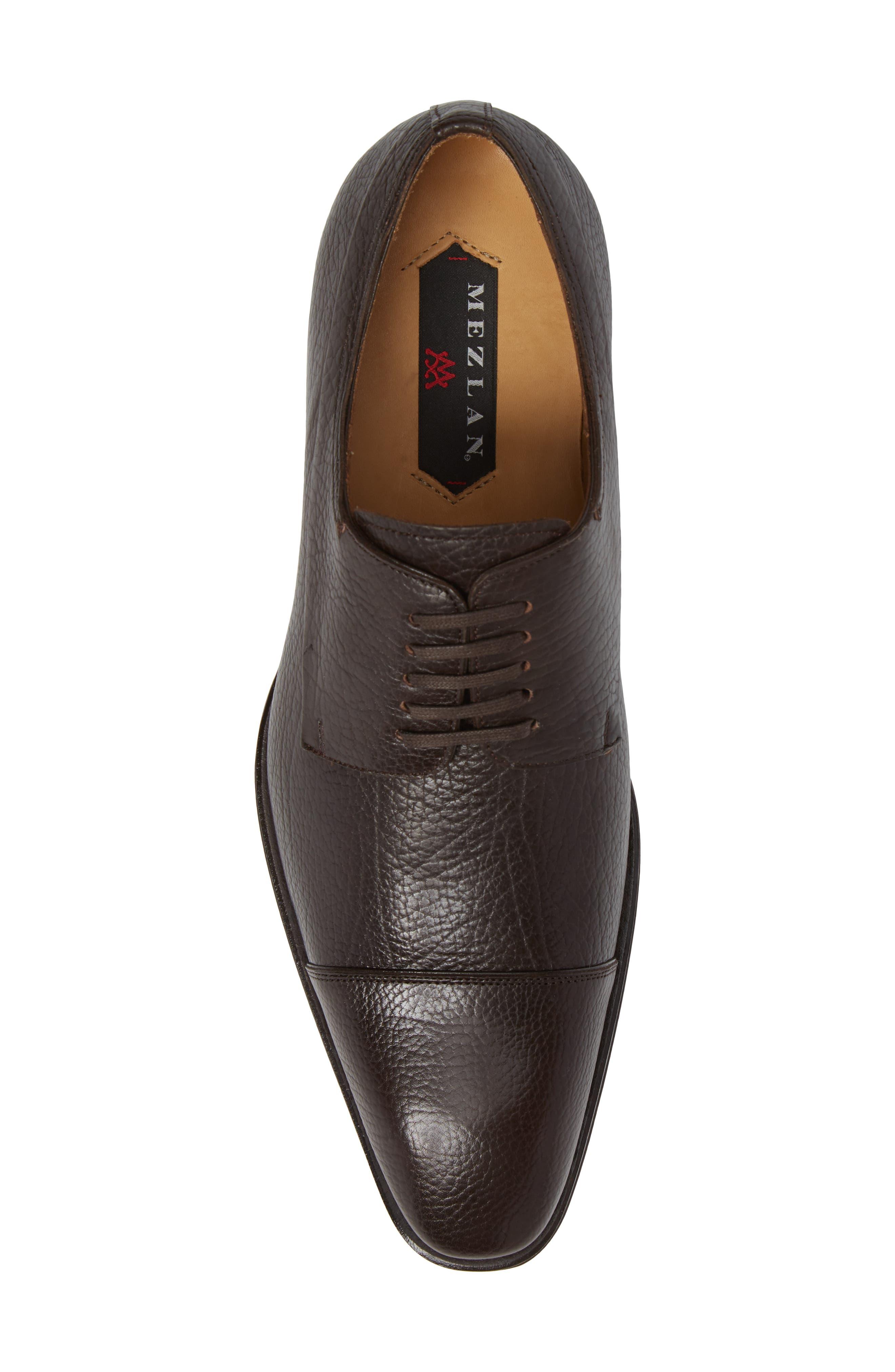 Pulpi Cap Toe Derby,                             Alternate thumbnail 5, color,                             Brown Leather