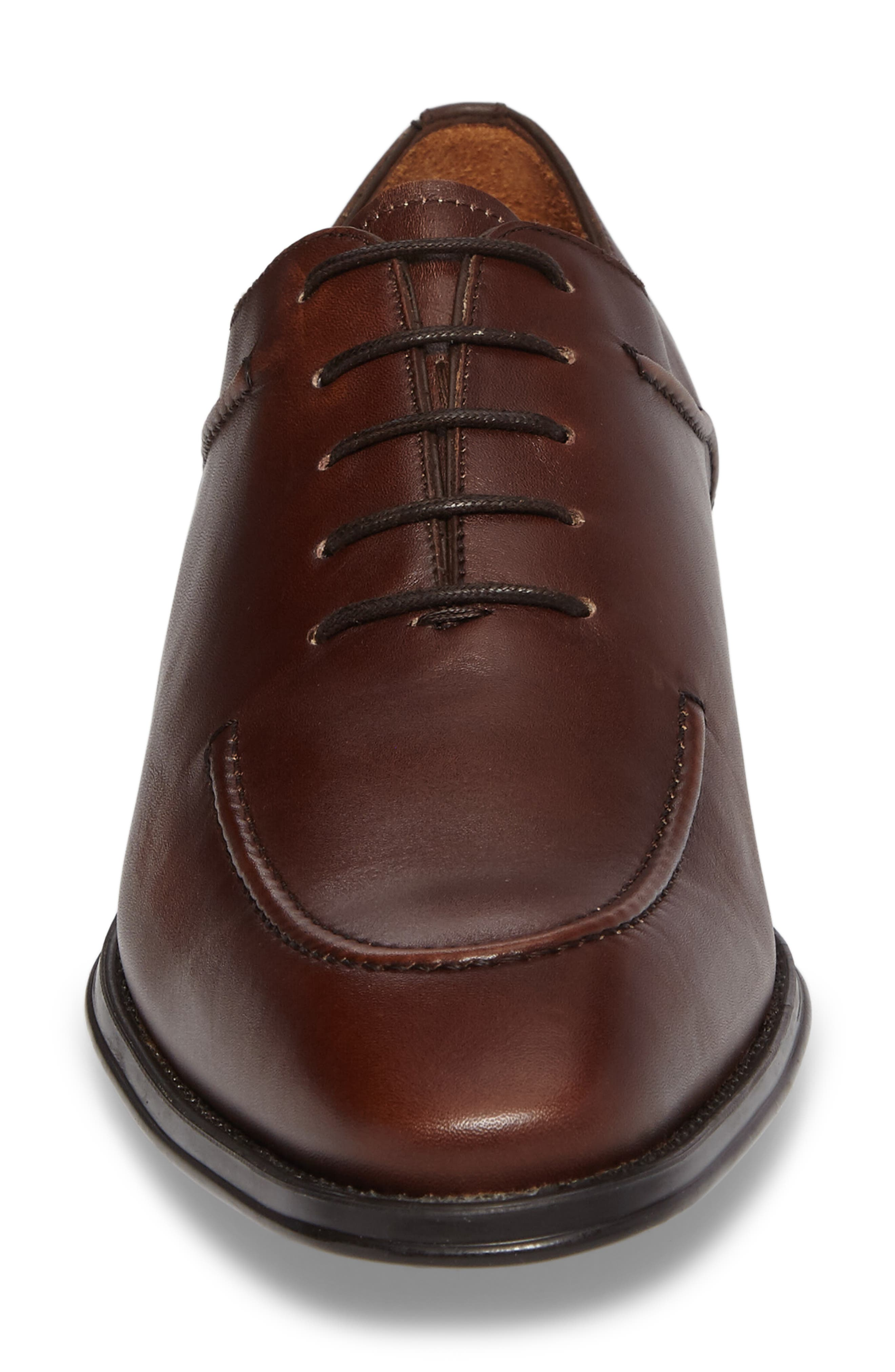 Velez Moc Toe Oxford,                             Alternate thumbnail 4, color,                             Brown Leather