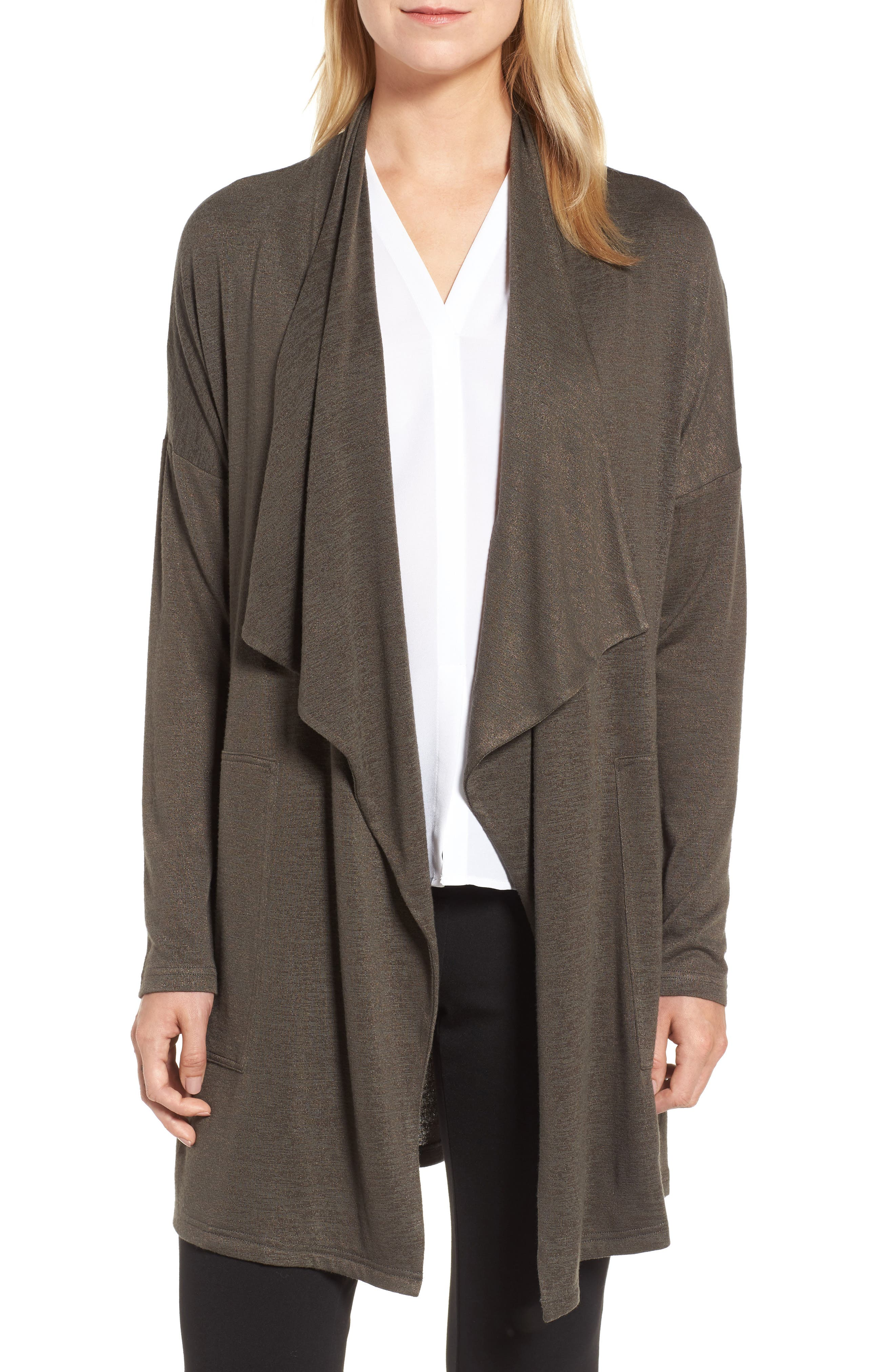 Every Occasion Drape Front Jacket,                             Main thumbnail 1, color,                             Terrene