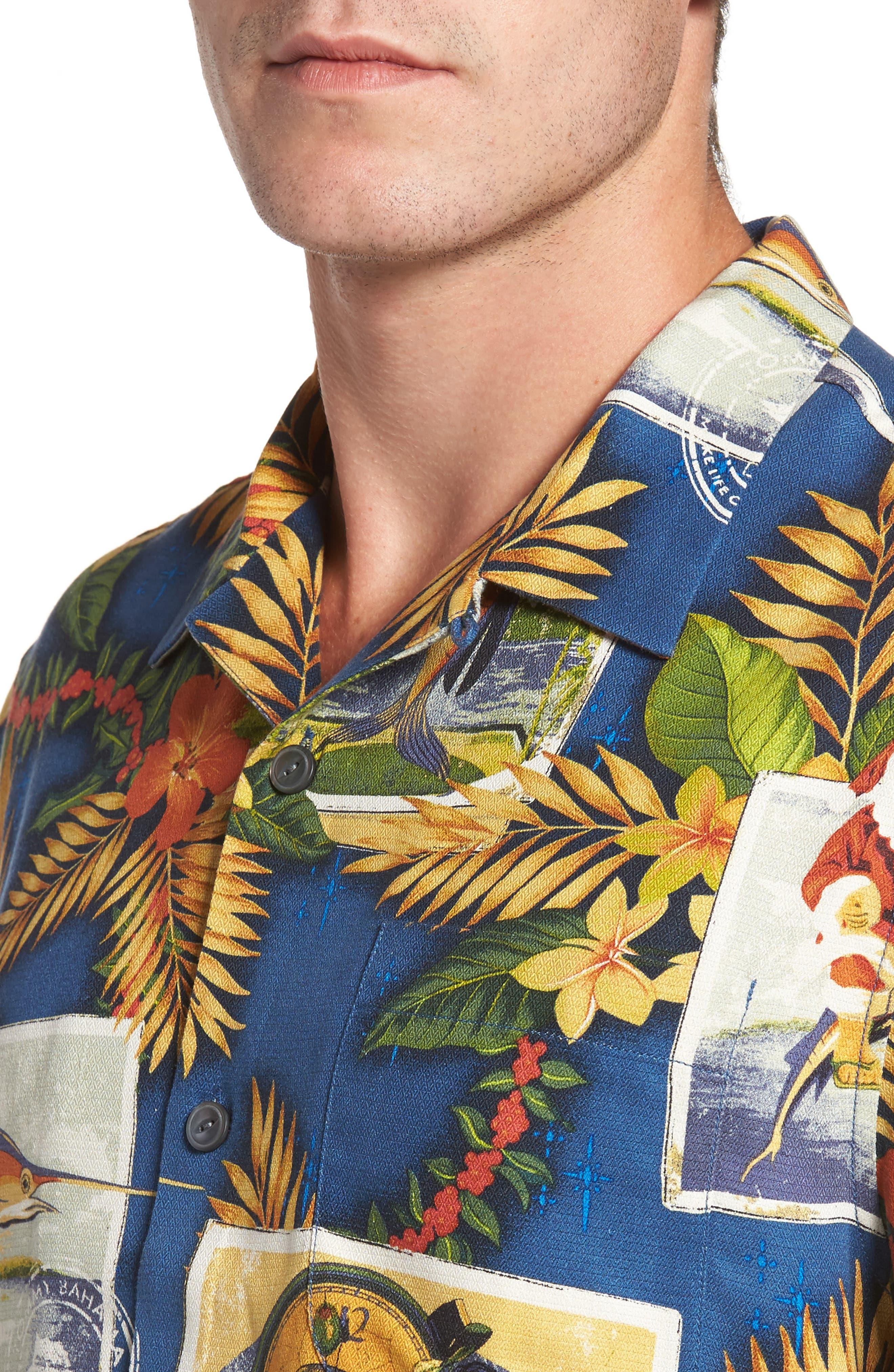 Alternate Image 4  - Tommy Bahama Tommy Holidays Silk Woven Shirt