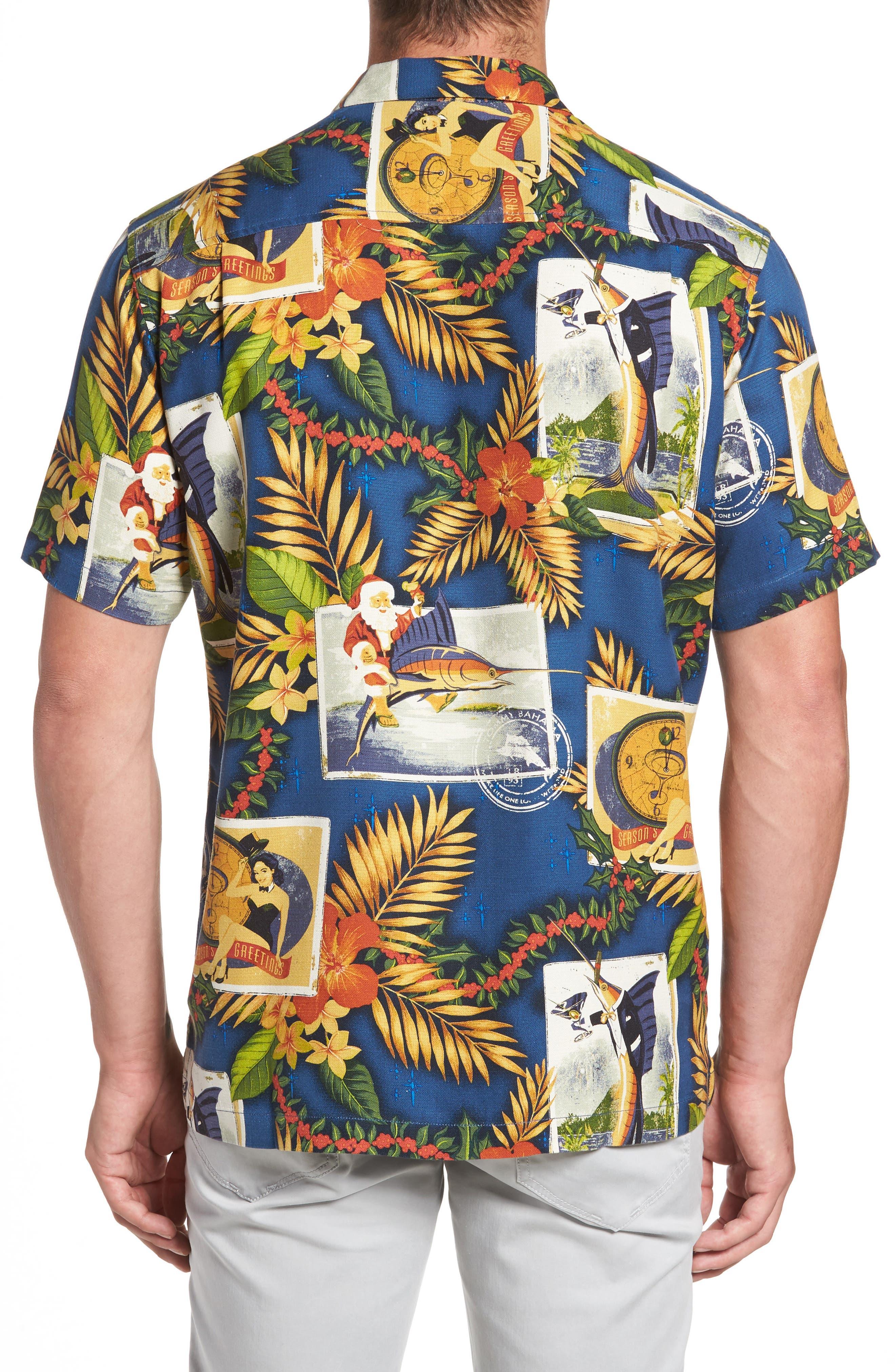 Alternate Image 2  - Tommy Bahama Tommy Holidays Silk Woven Shirt