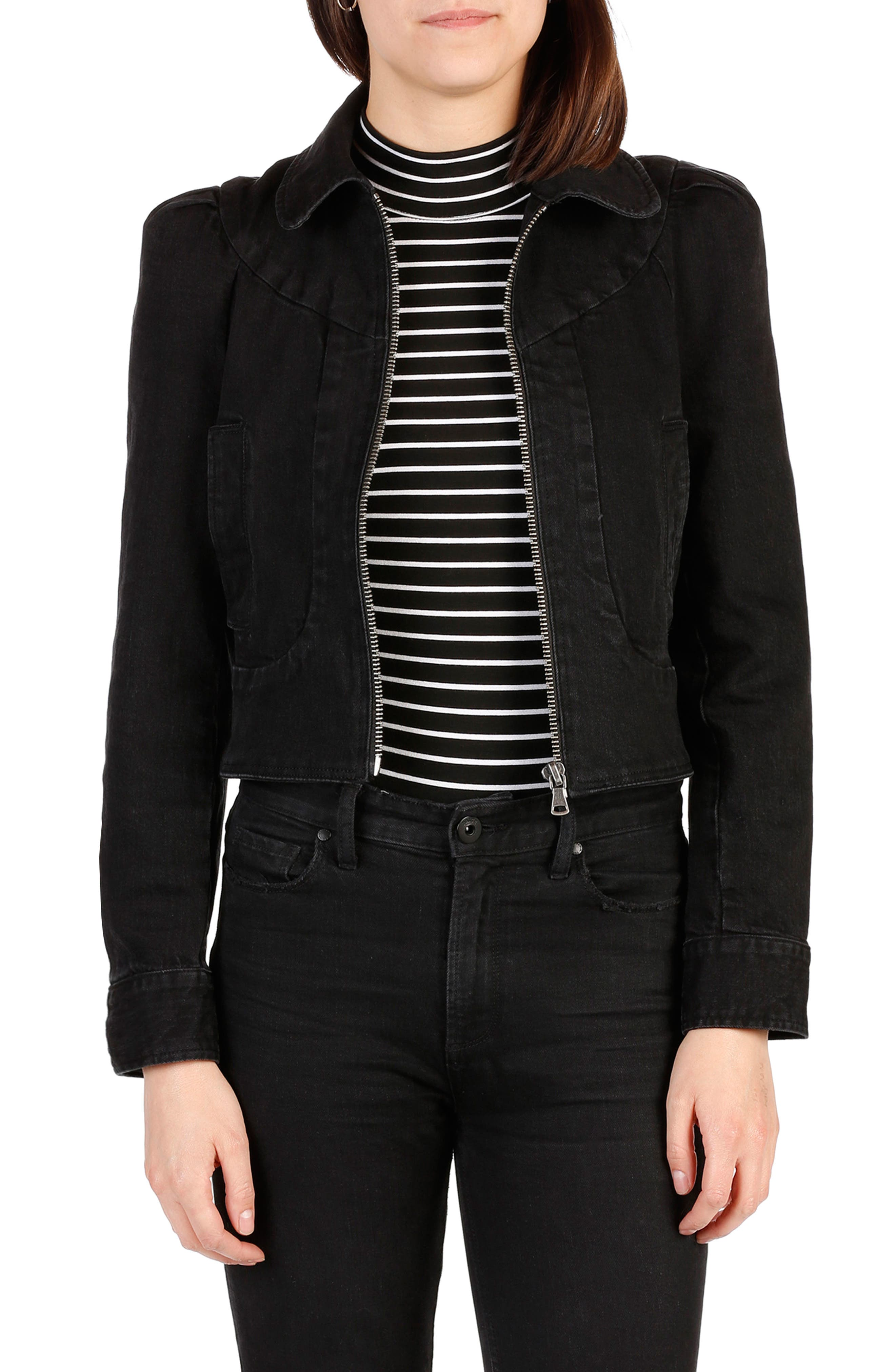 Main Image - PAIGE Evelyn Zip Denim Jacket