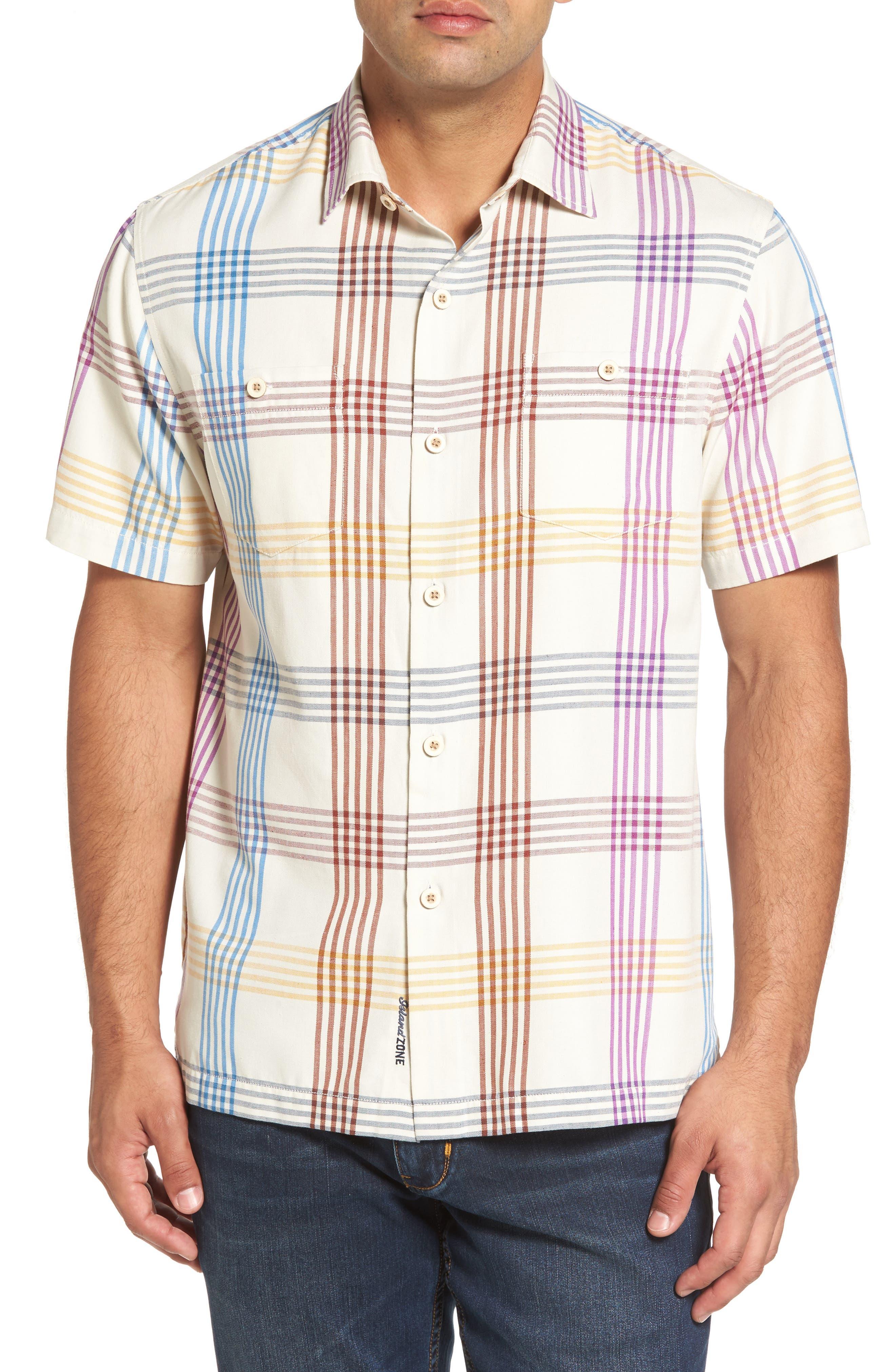 Mo' Rockin Standard Fit Silk Woven Shirt,                         Main,                         color, Coconut Cream