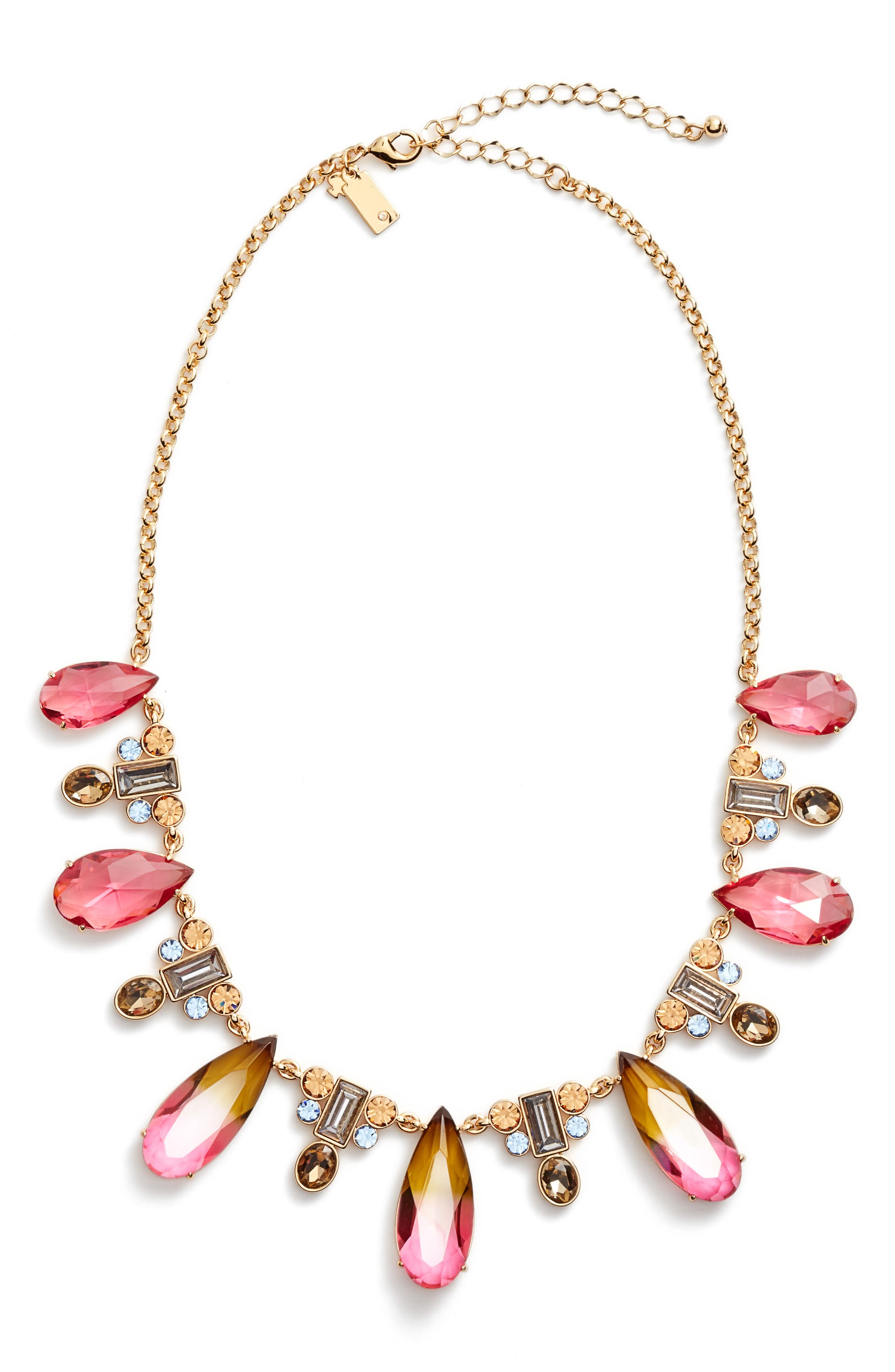 Alternate Image 1 Selected - kate spade new york light up crystal collar necklace