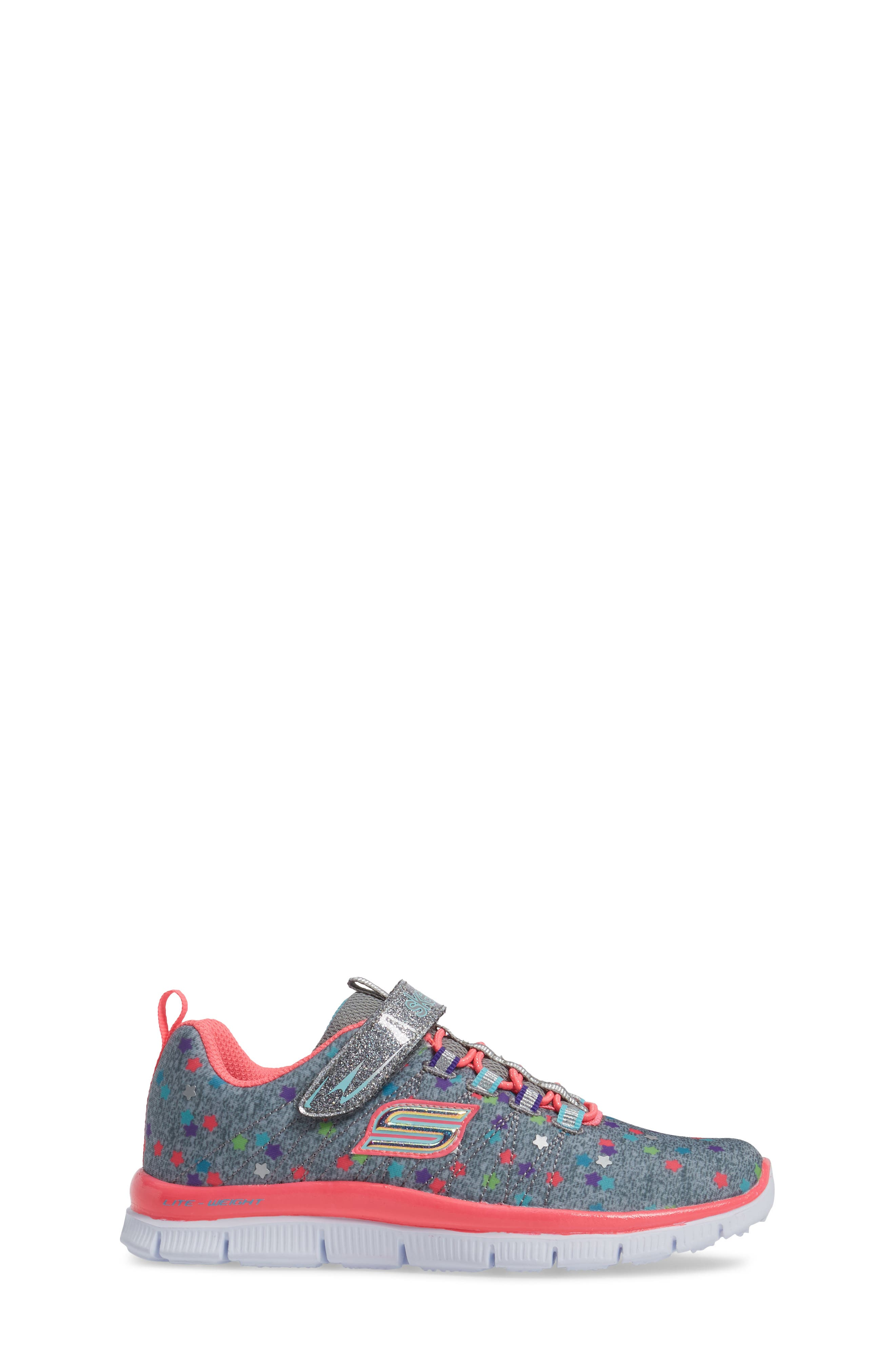 Skech Appeal Star Spirit Sneaker,                             Alternate thumbnail 3, color,                             Grey/ Multi