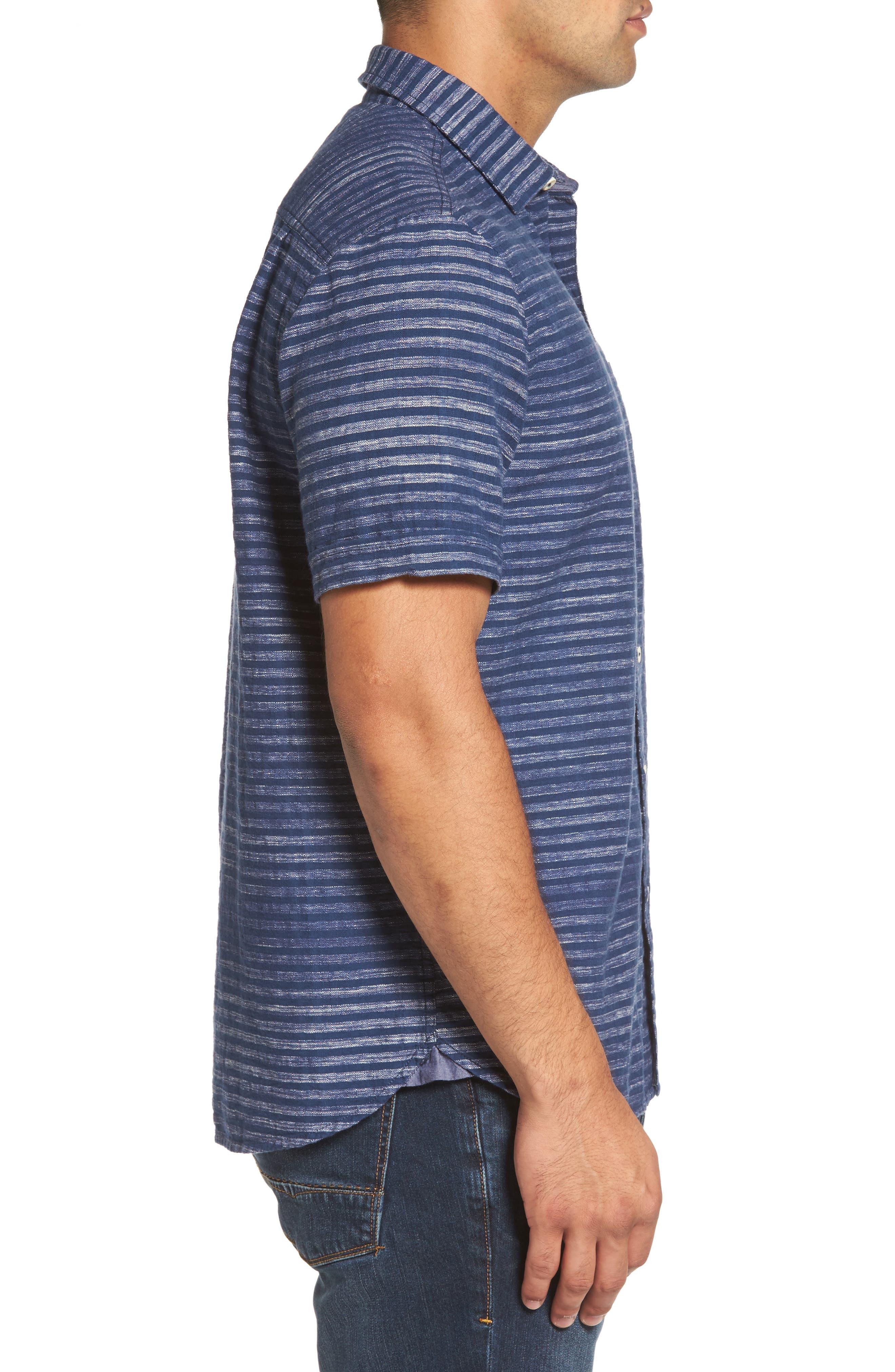 Alternate Image 3  - Tommy Bahama Seaway Stripe Standard Fit Sport Shirt