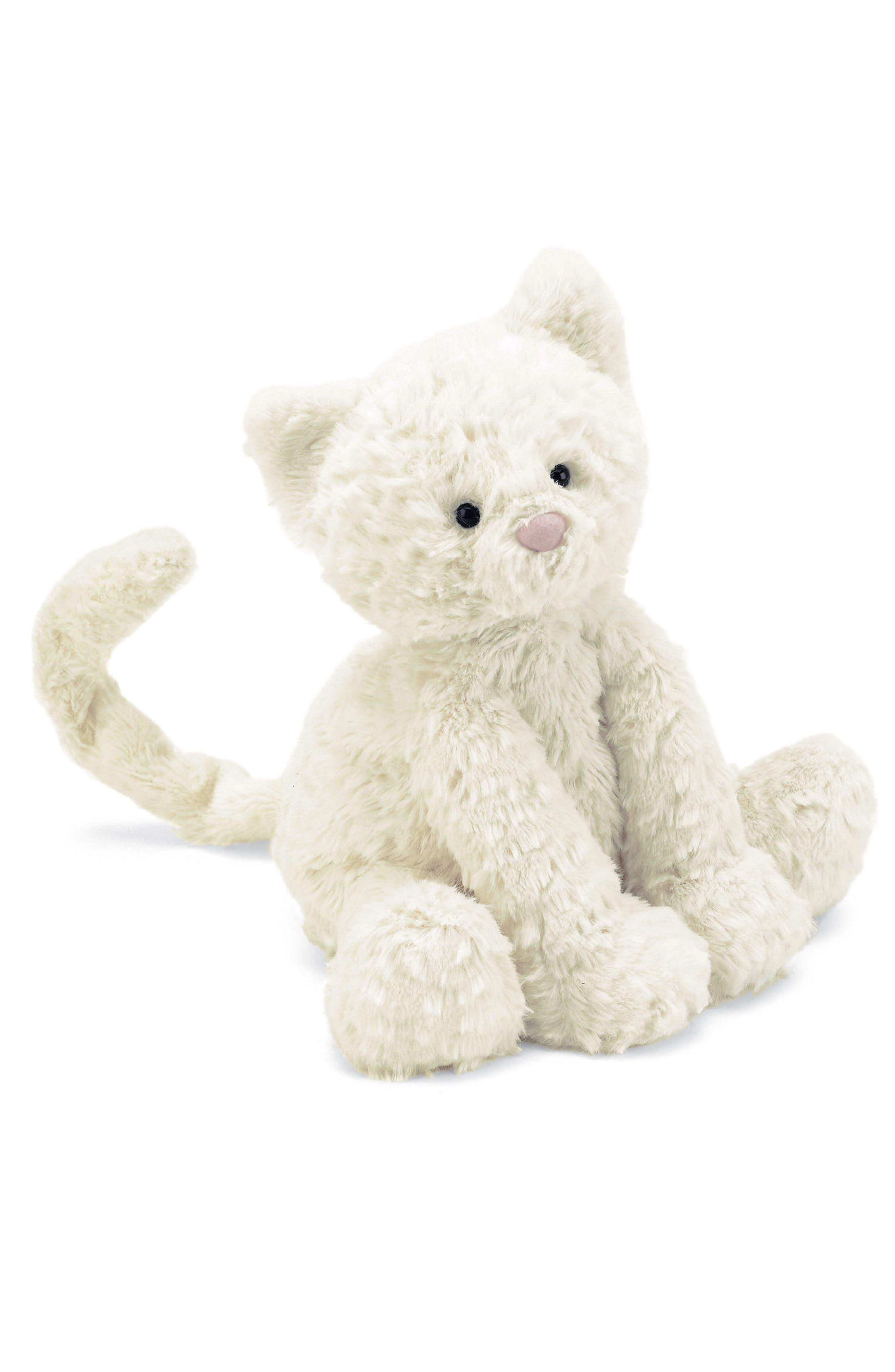 'Fuddlewuddle Kitty' Stuffed Animal,                         Main,                         color, White