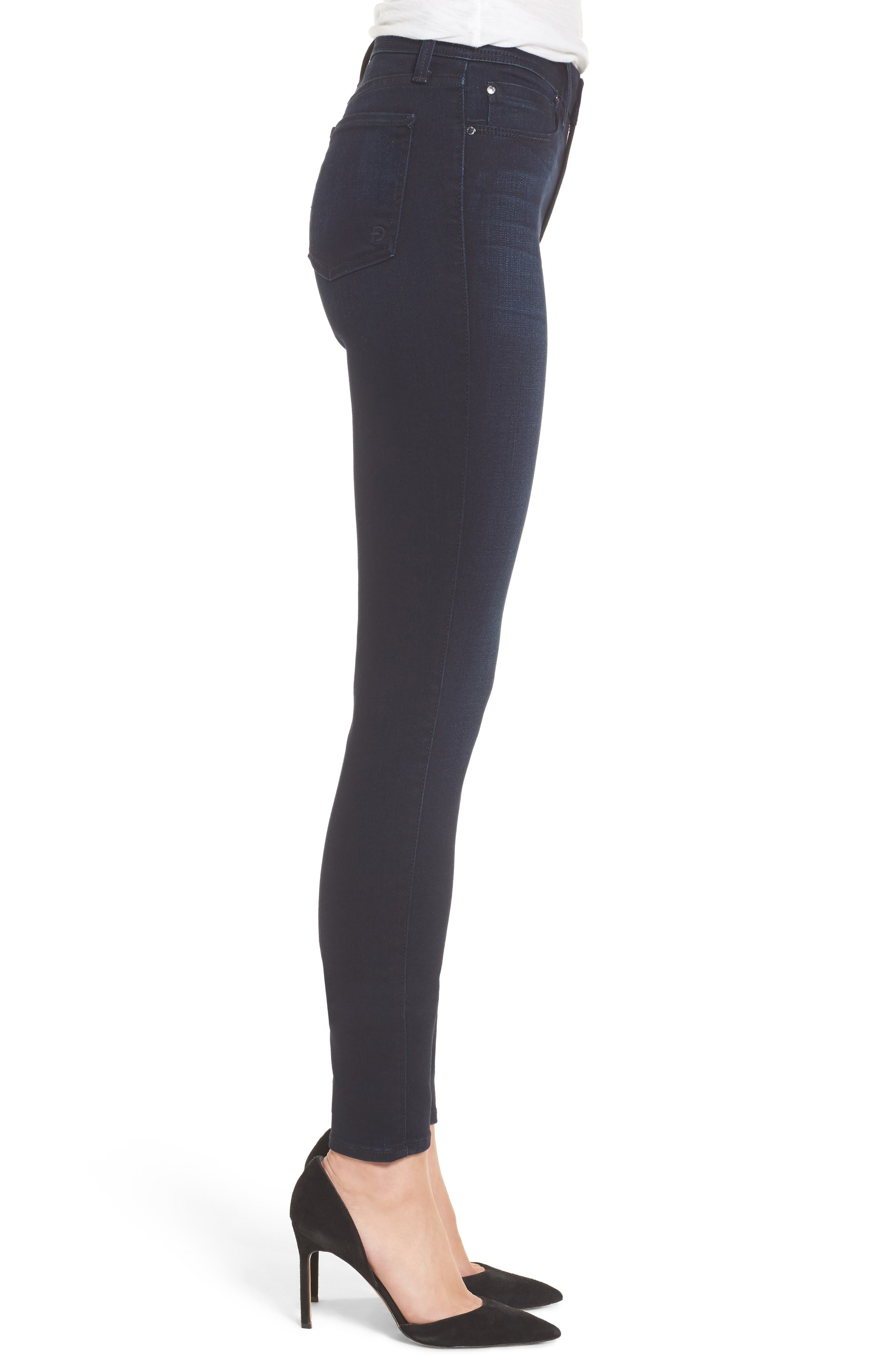 Fidelity Jeans Belvedere Skinny Jeans,                             Alternate thumbnail 3, color,                             Sapphire