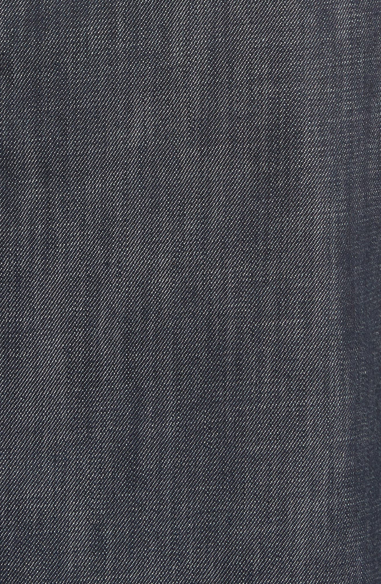 Alternate Image 5  - Tibi Snap Front Raw Denim Skirt
