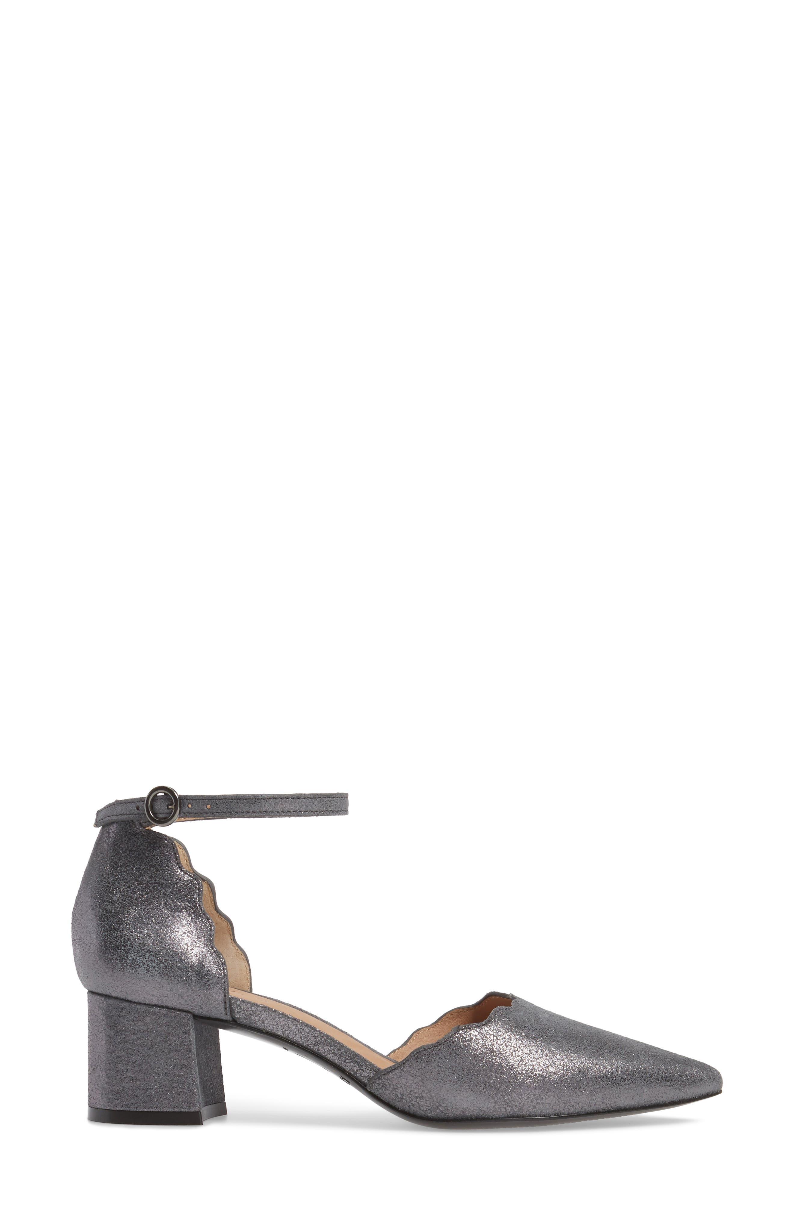 Roseia Pump,                             Alternate thumbnail 3, color,                             Gunmetal Suede