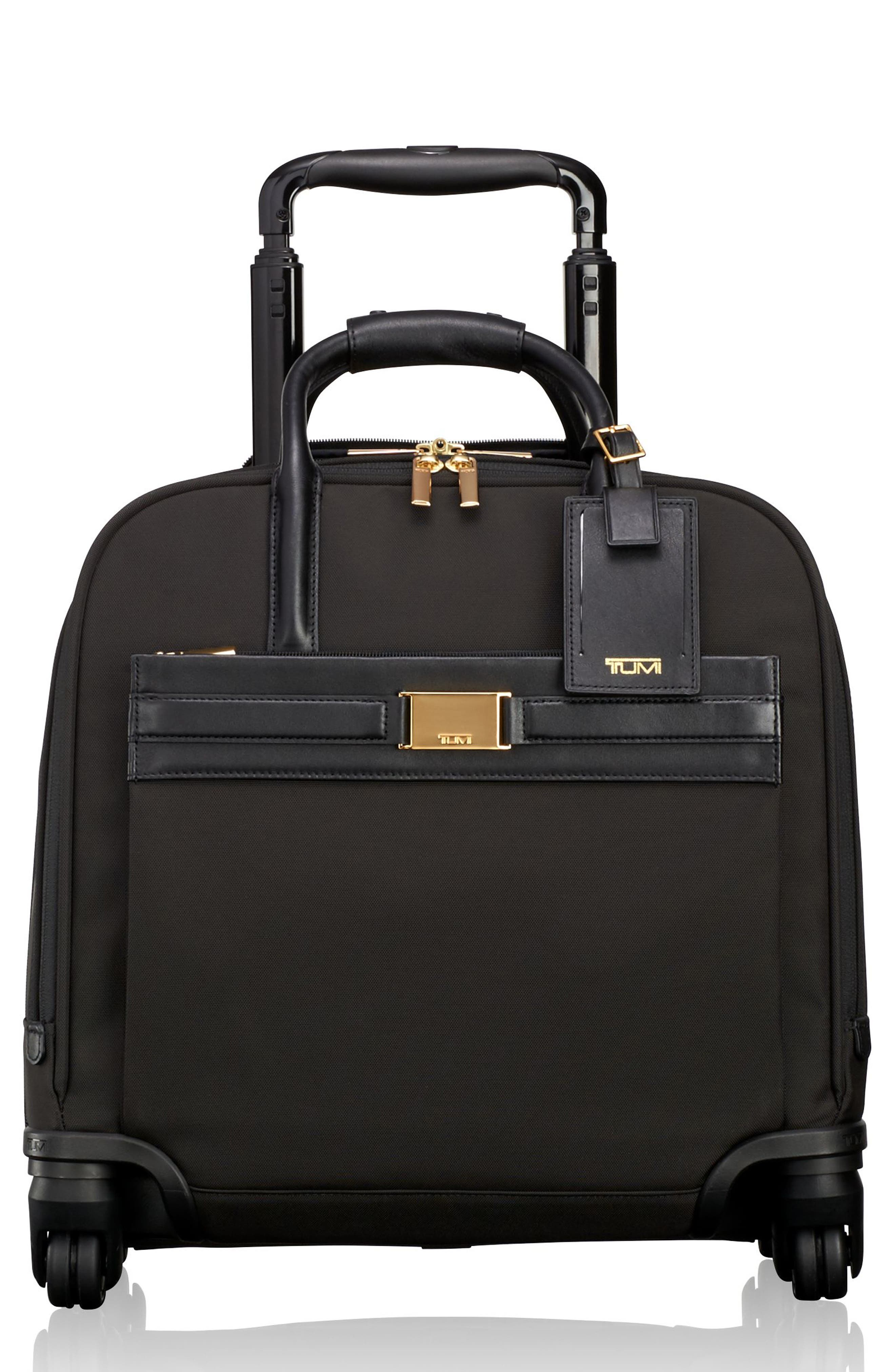Larkin - Shannon 11-Inch Compact Nylon Wheeled Carry-On,                         Main,                         color, Black