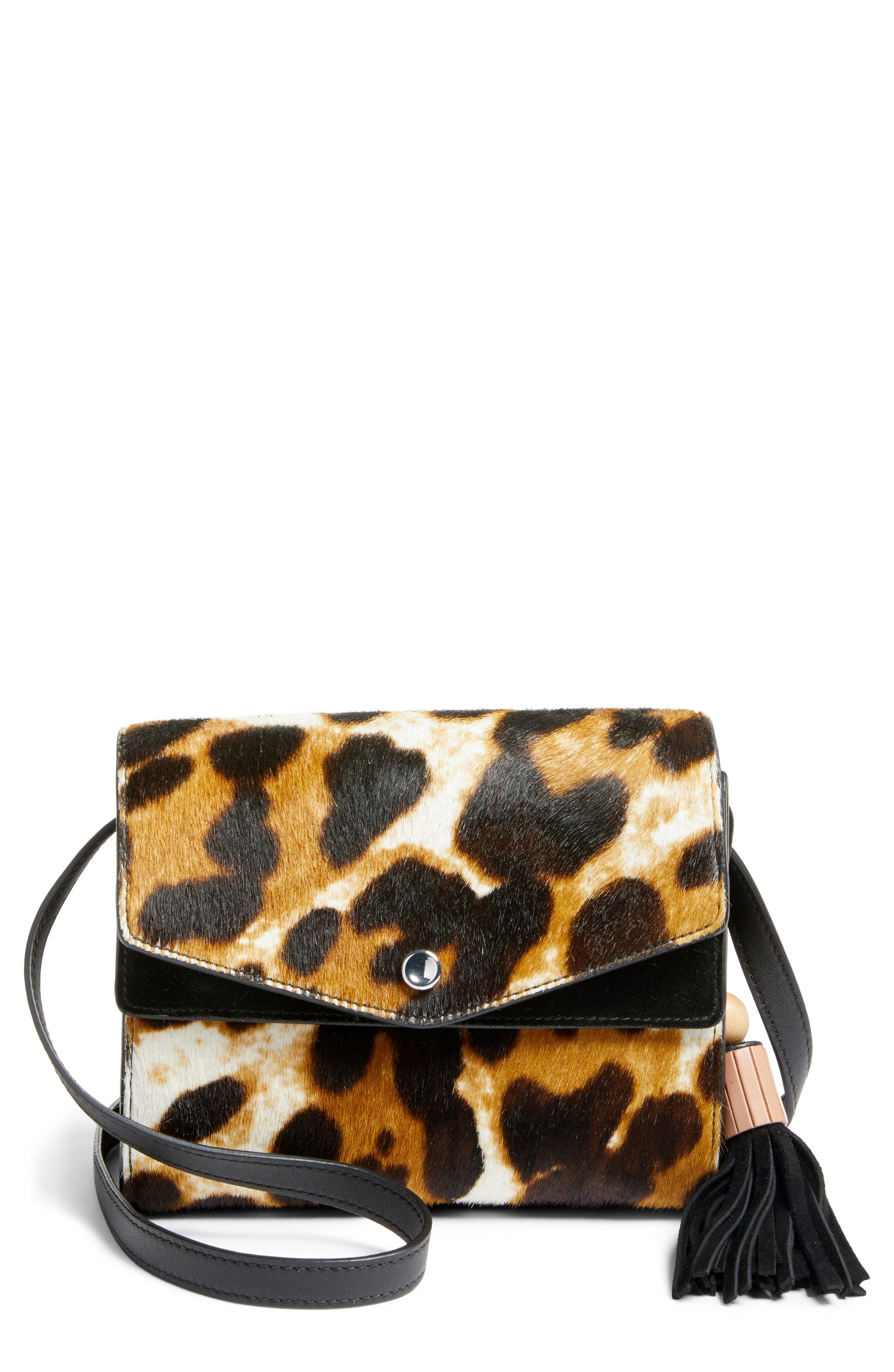 ELIZABETH AND JAMES Eloise Genuine Calf Hair Field Crossbody Bag